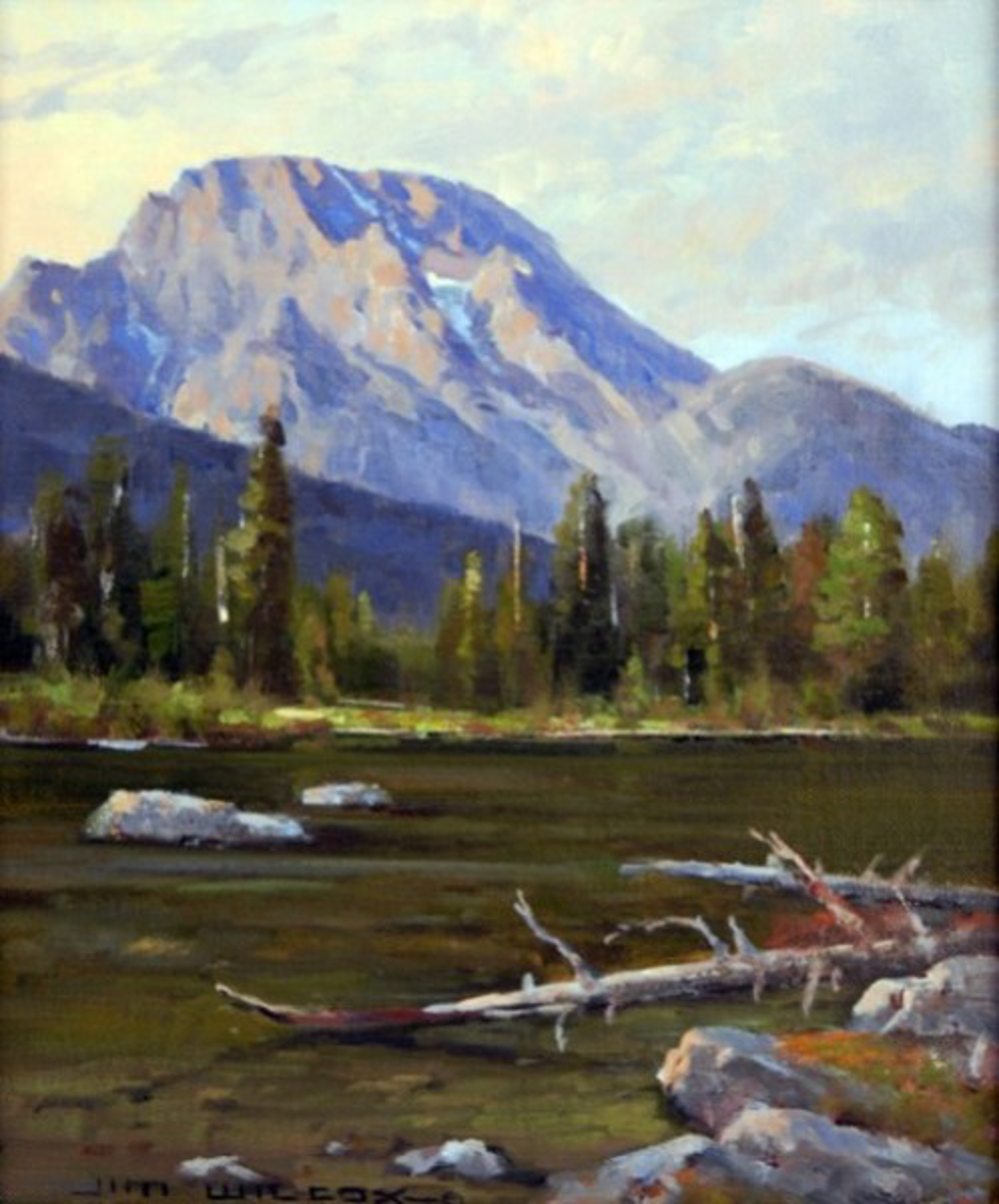 Mount Moran Evening - String Lake by Jim Wilcox