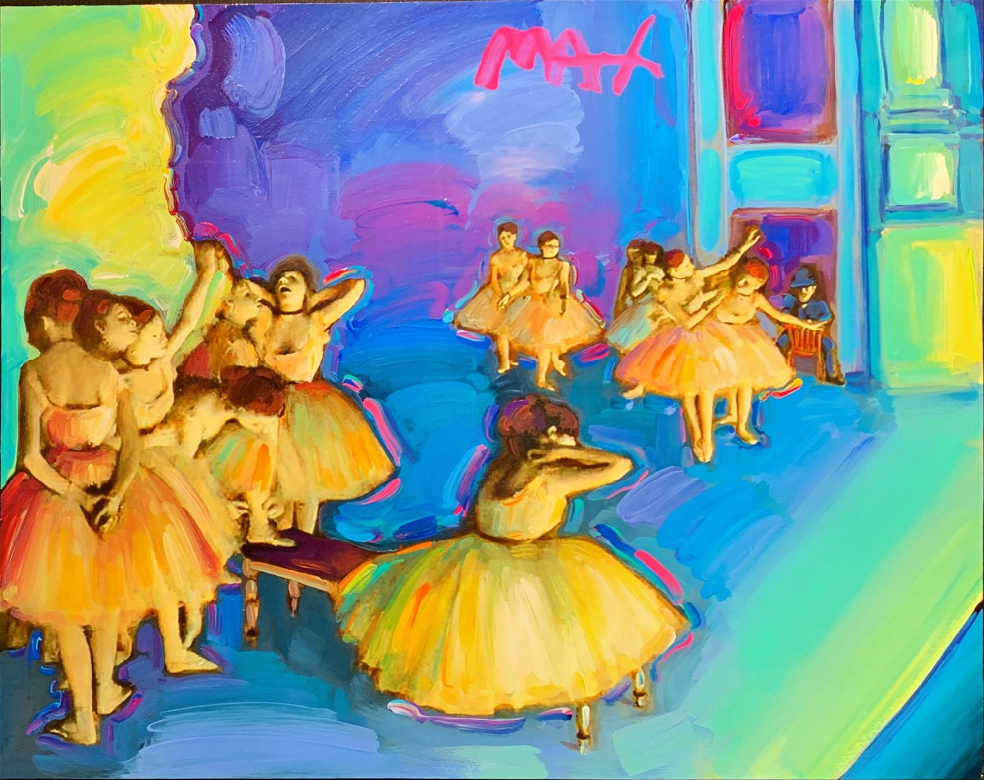 Homage to Degas: Dance Ballet Rehearsal by Peter Max