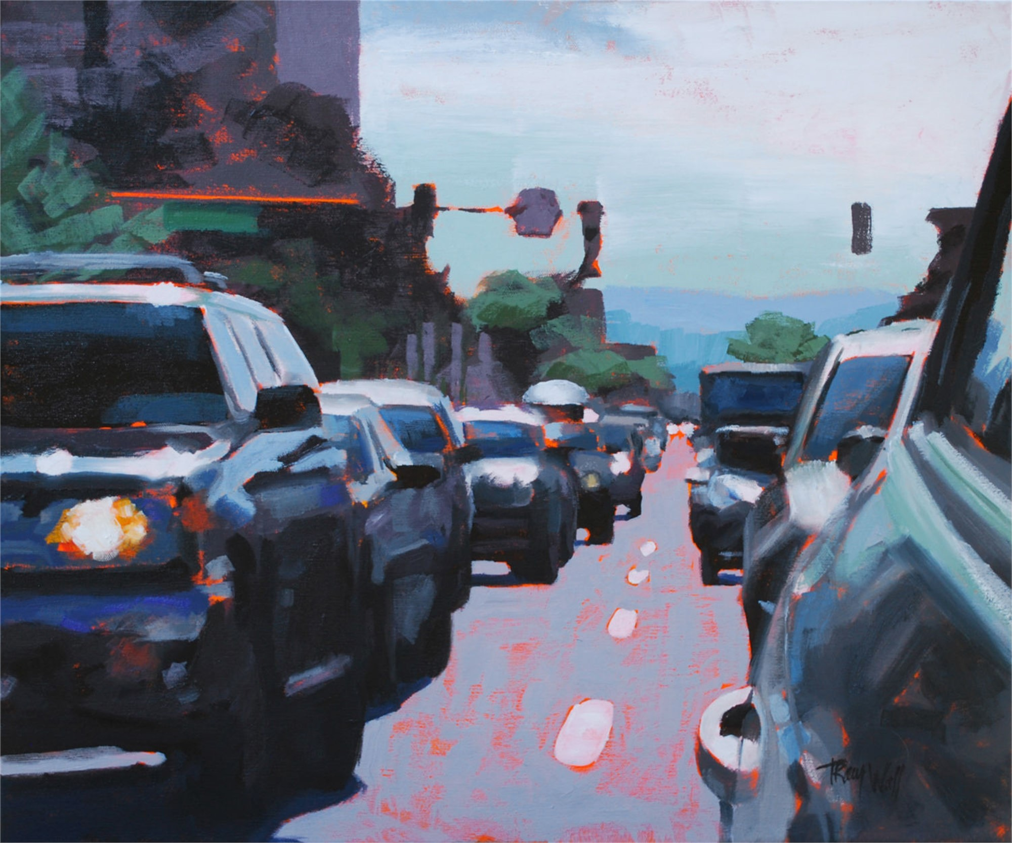 Lunch Rush by Tracy Wall