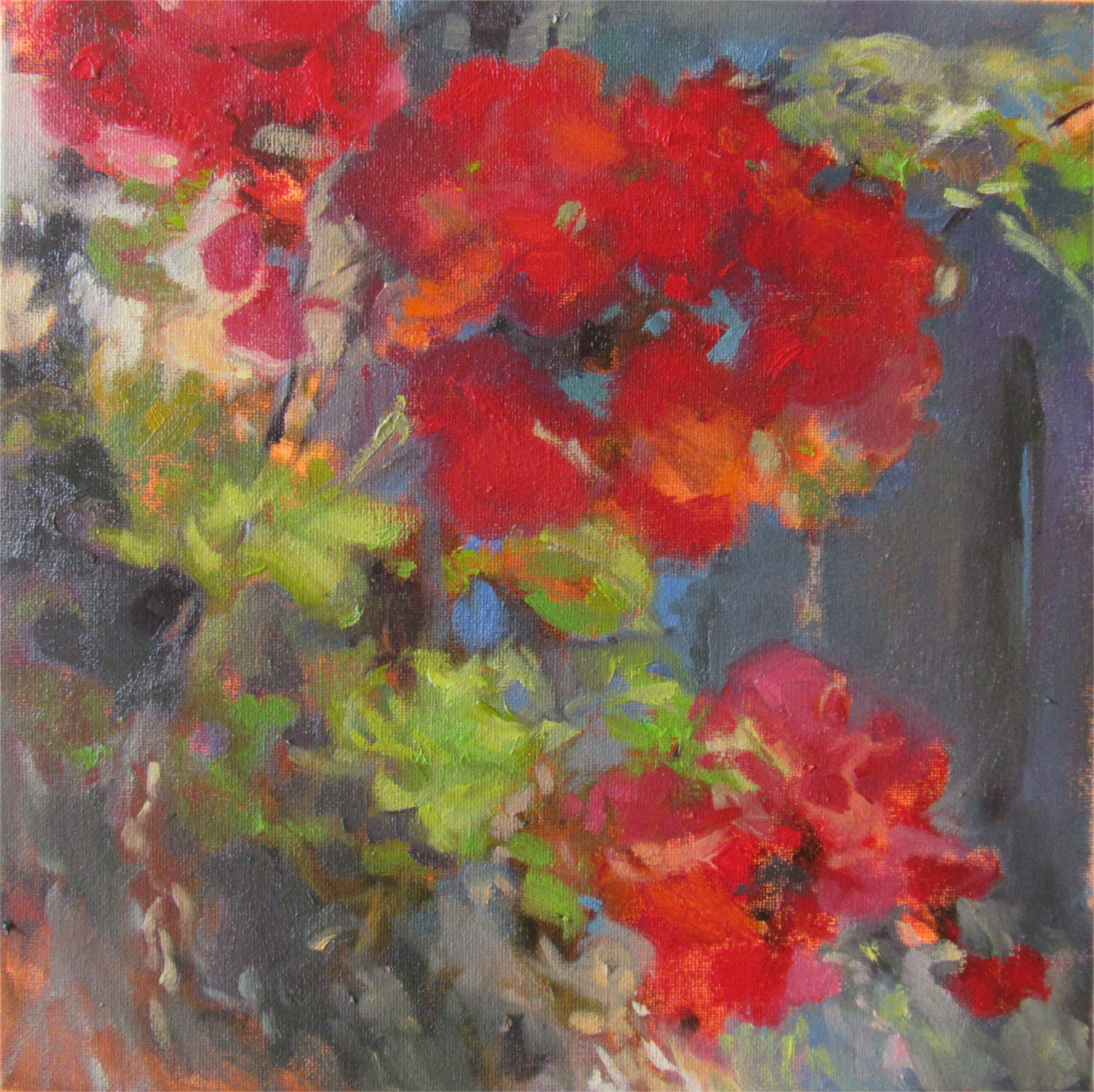 Meeting Street Geraniums by Madeline Dukes