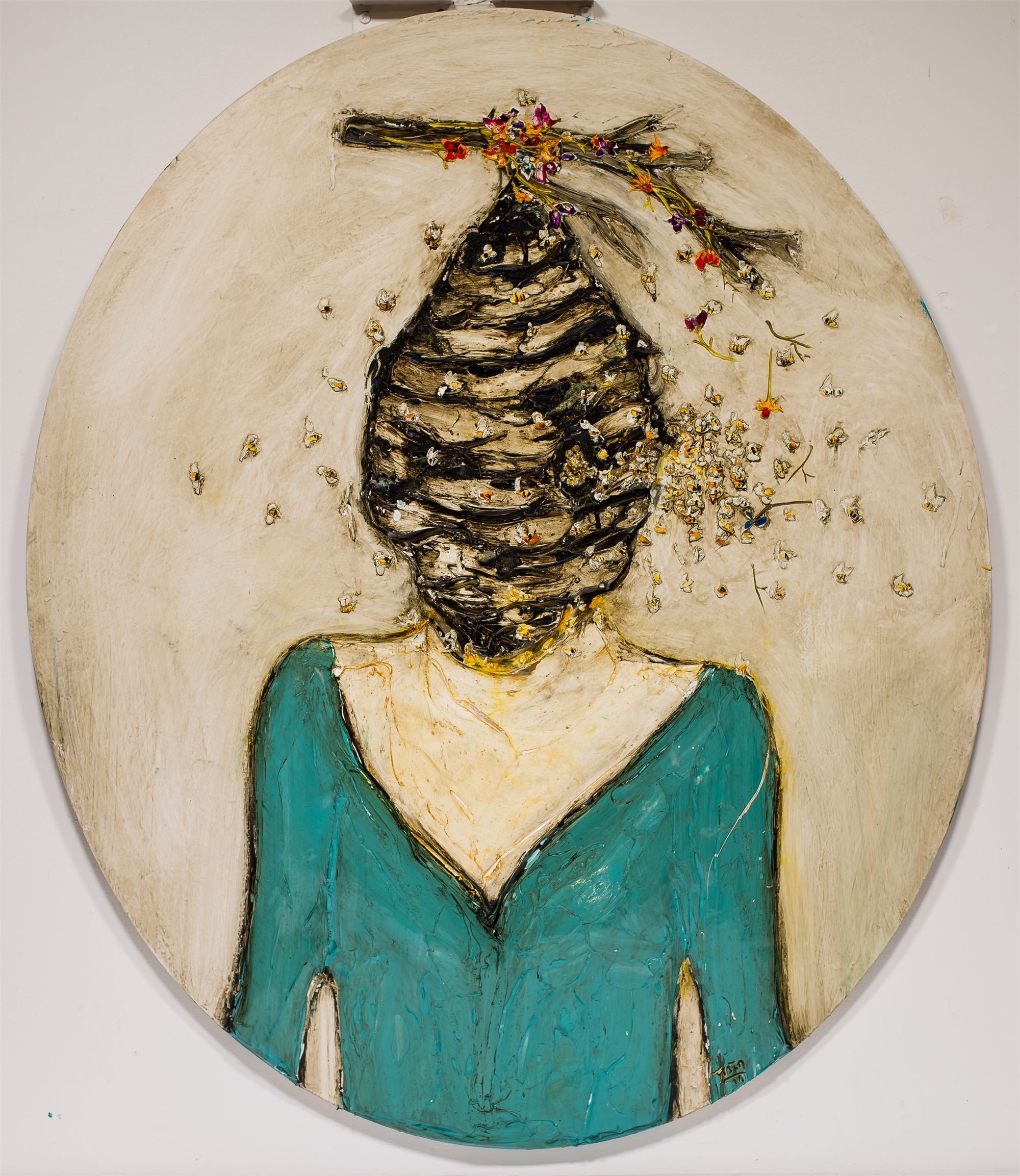Miss Hive Head HH40X47-2018-338 by Justin Gaffrey
