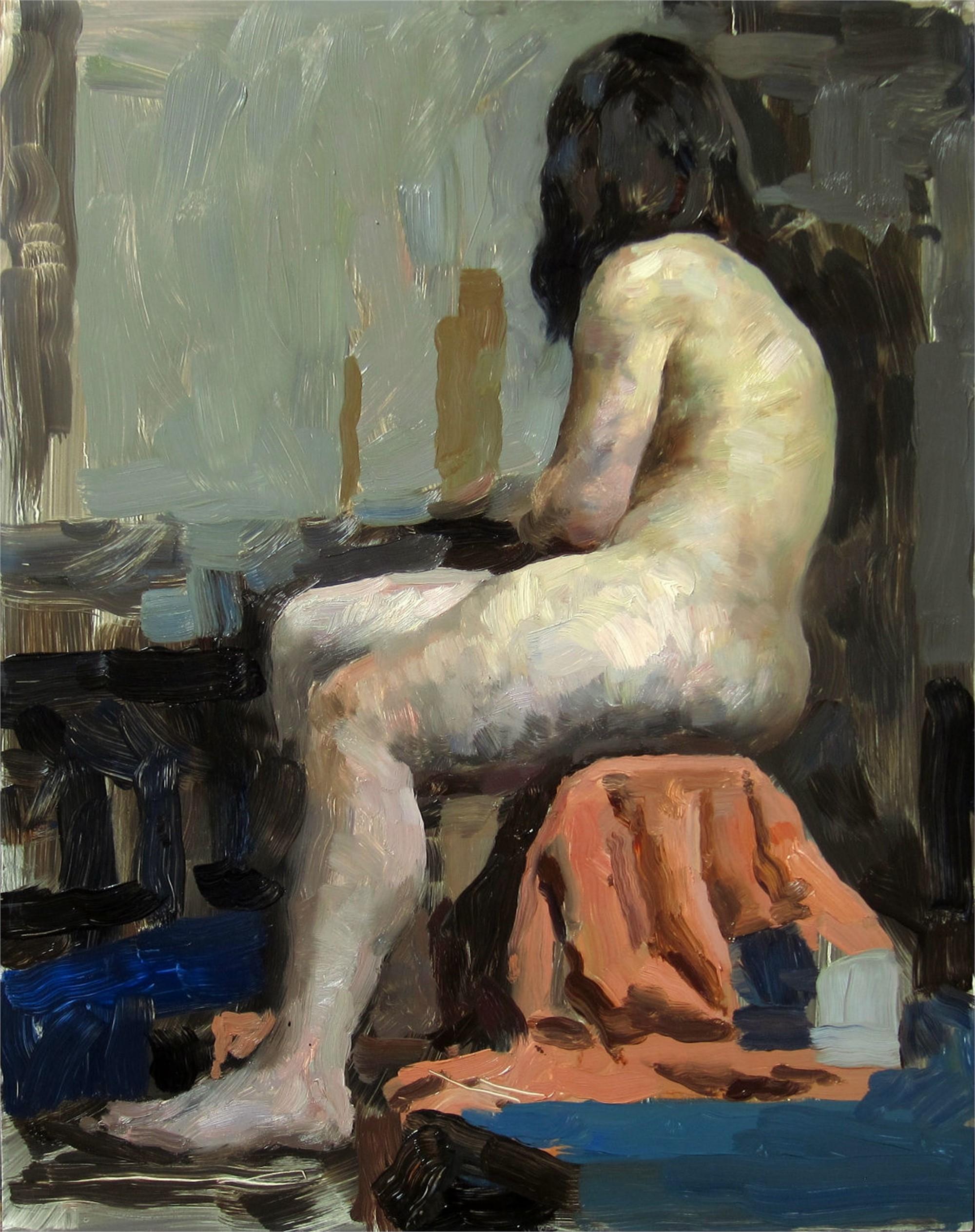 Figure in Orange by Hollis Dunlap