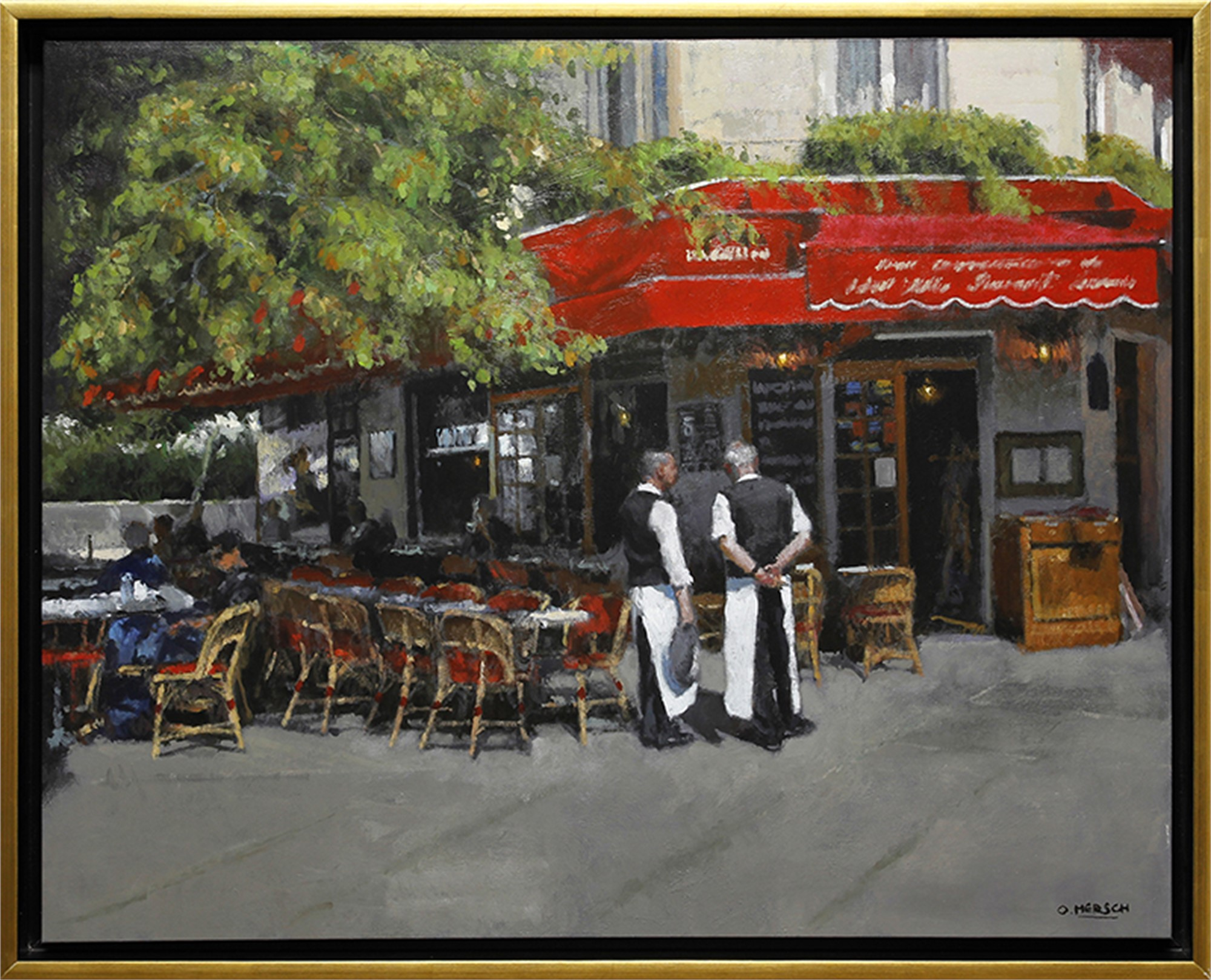 Cafe in Paris by Oscar Mersch