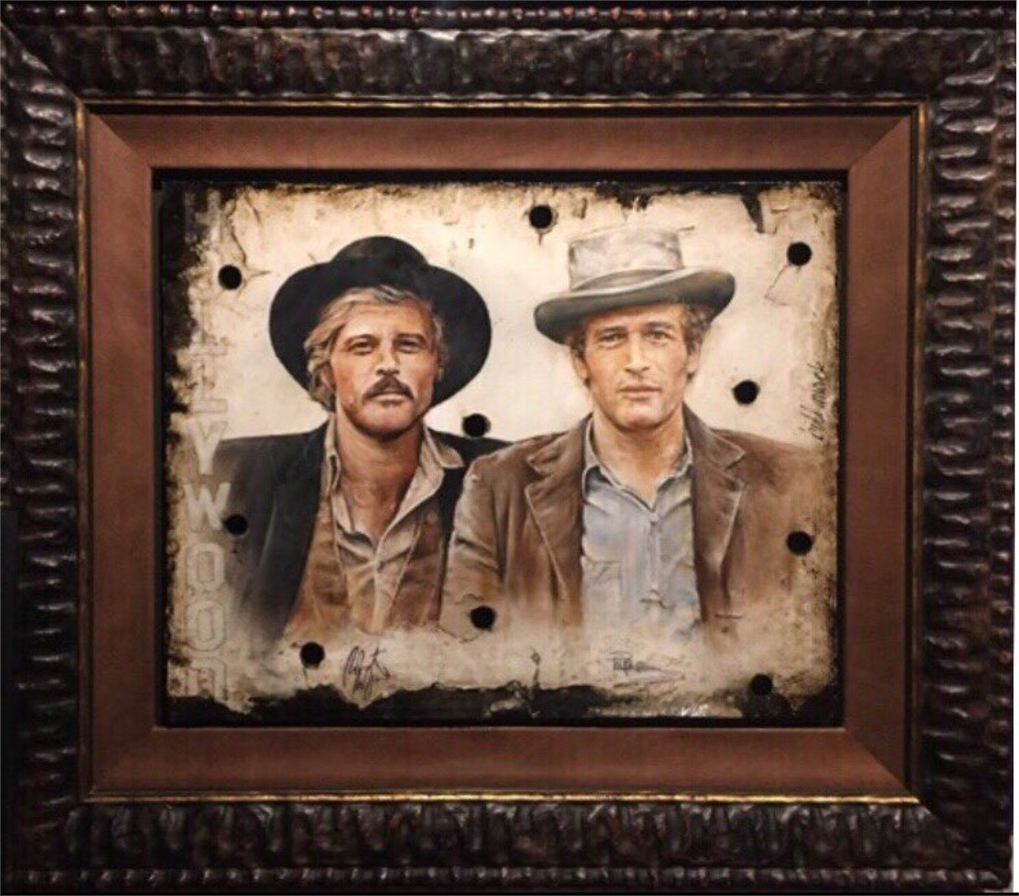 """Butch & The Kid"" Paul Newman & Robert Redford by Bill Mack"