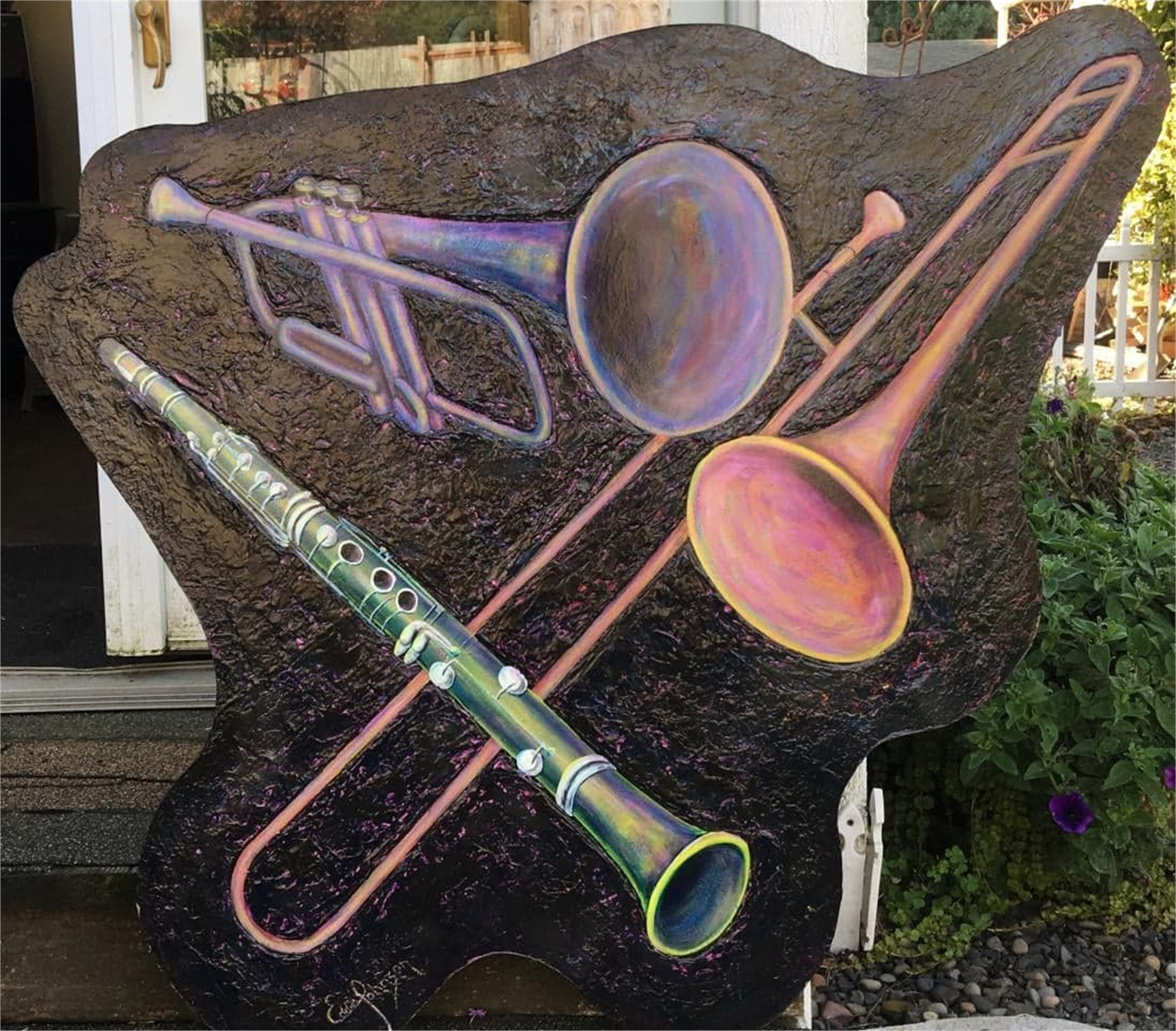 Musical Horns by Edwin Johnson (McMinnville, OR)
