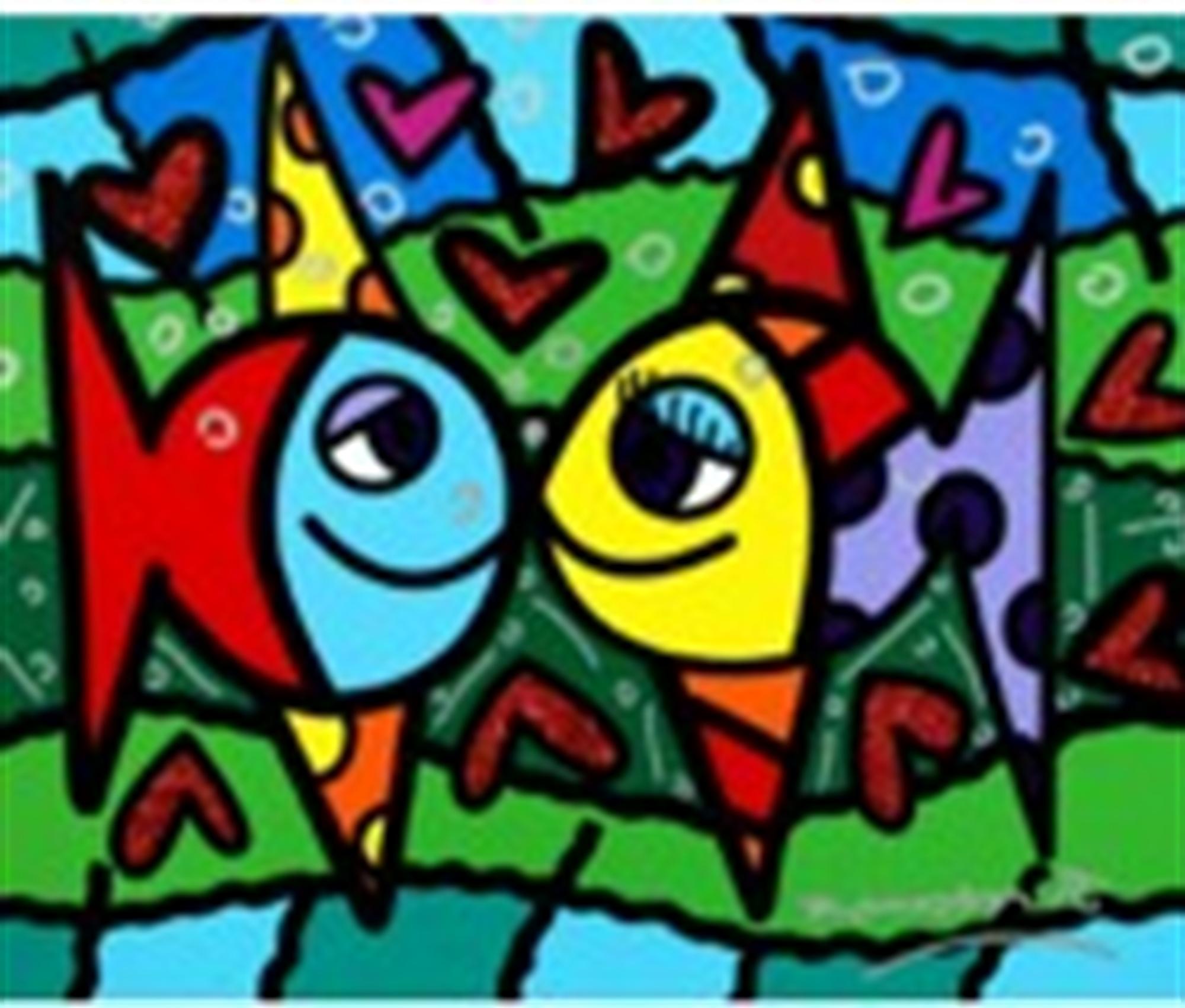 LOVE YOU by Romero Britto