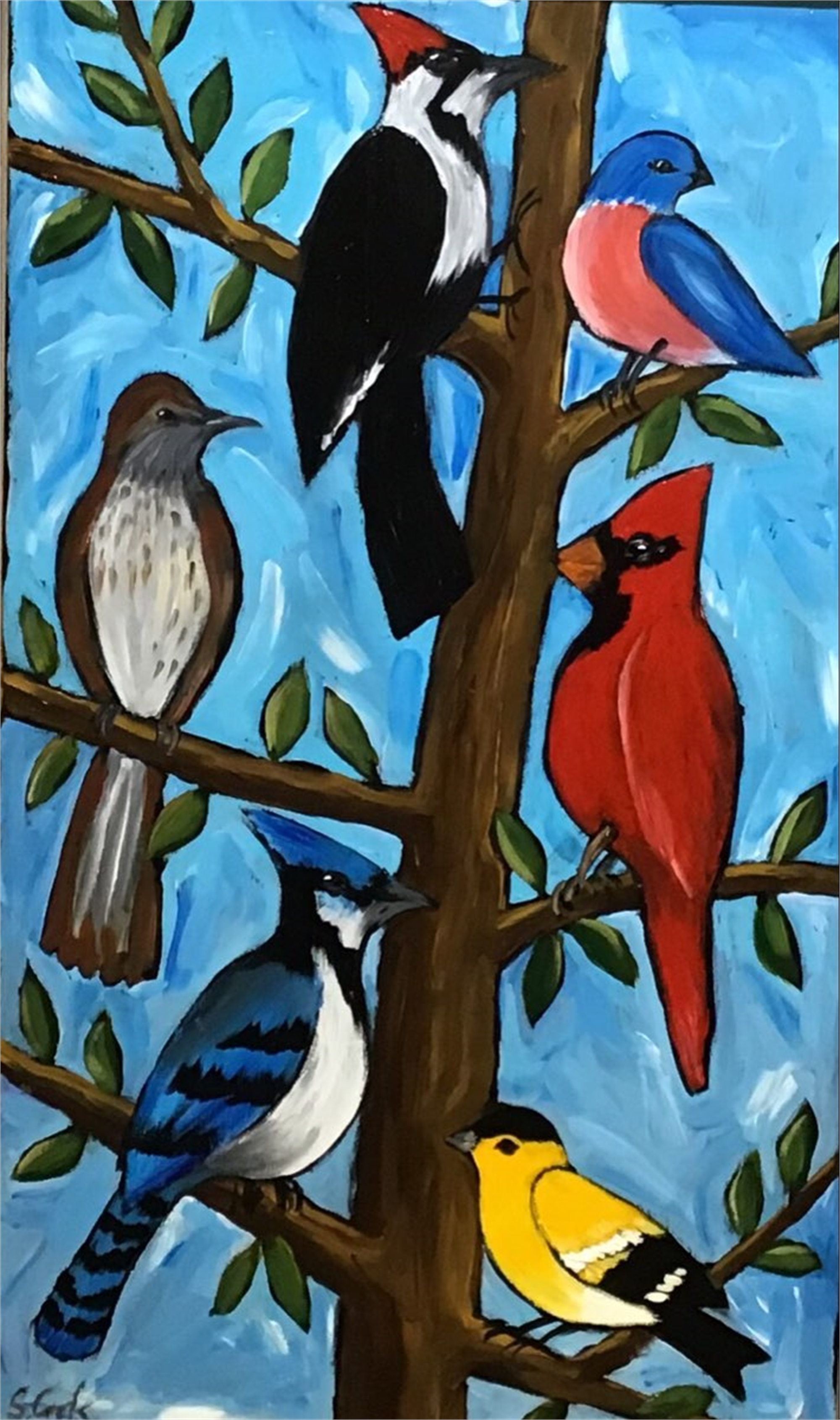Bird Tree by Sherry Cook