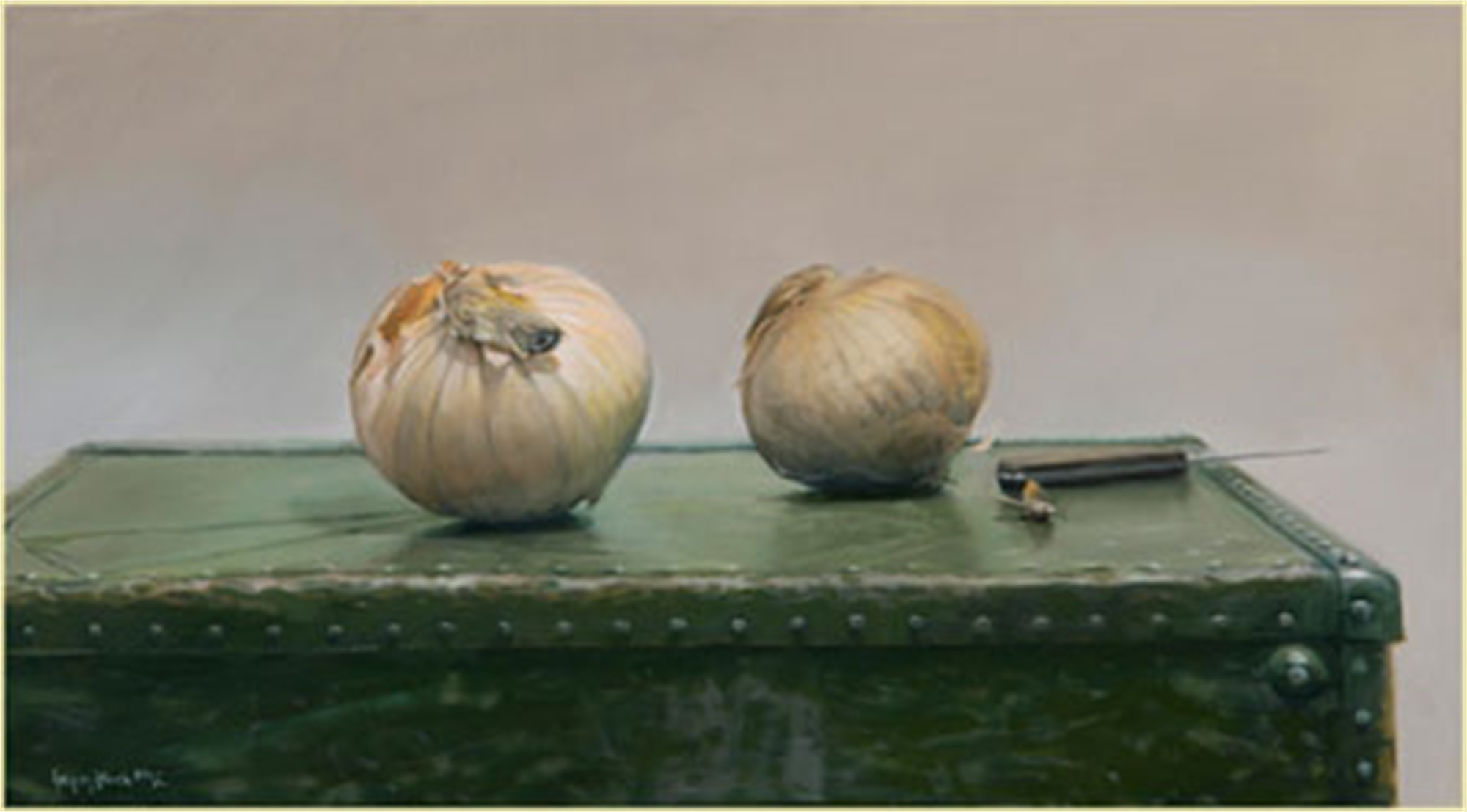Onions on a Suitcase by Gregory Block