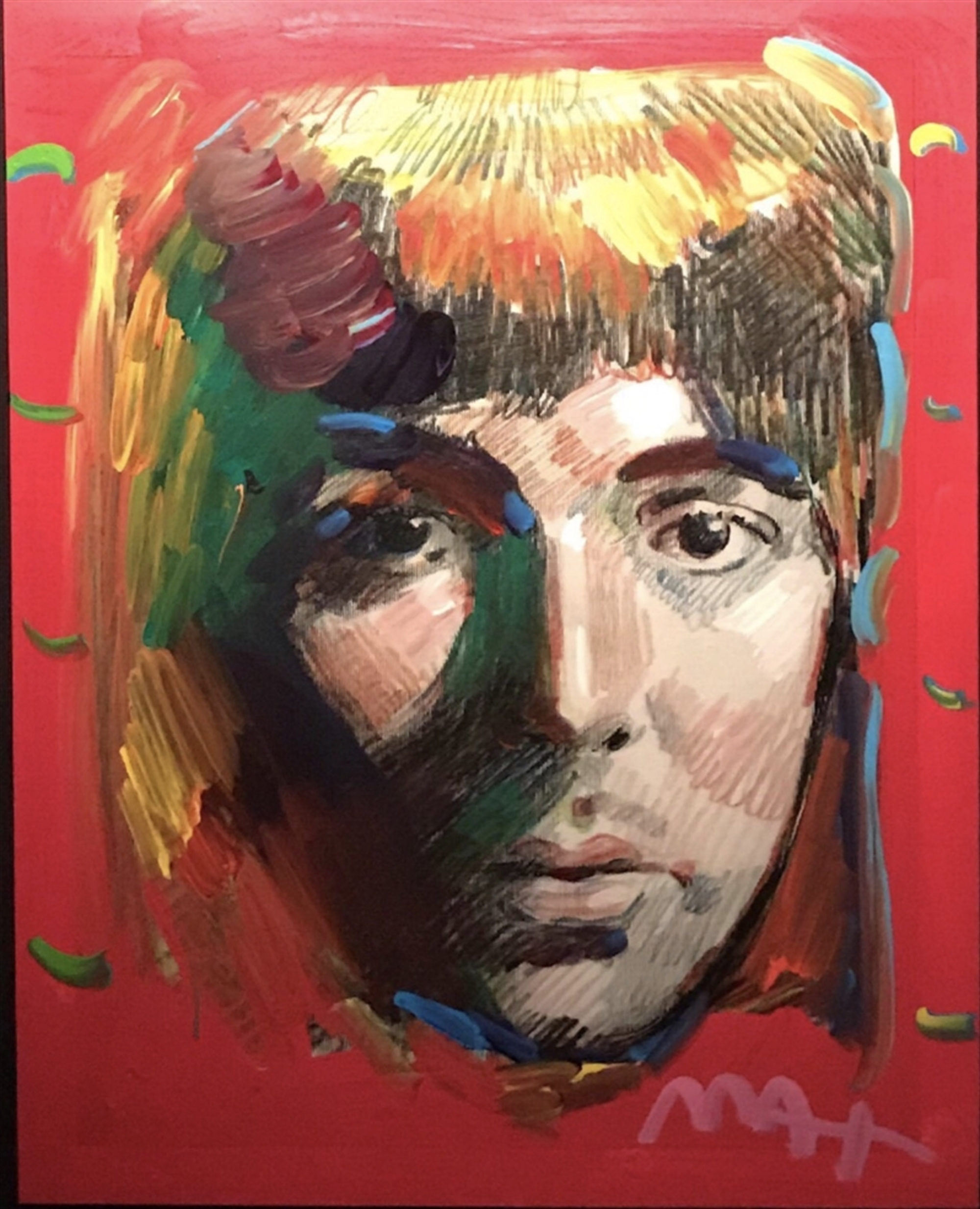 Portrait Of Paul McCartney by Peter Max