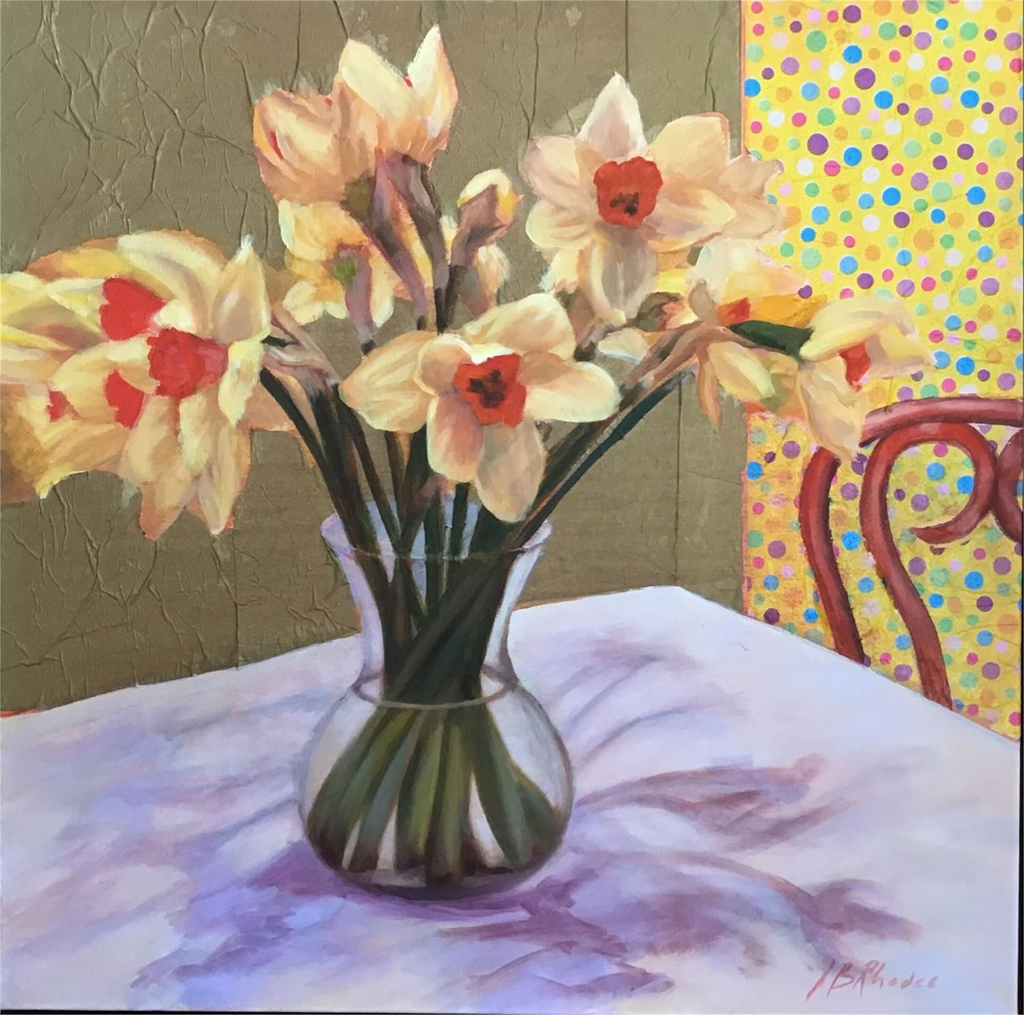 Polka Dots and Daffodils by Ann B. Rhodes