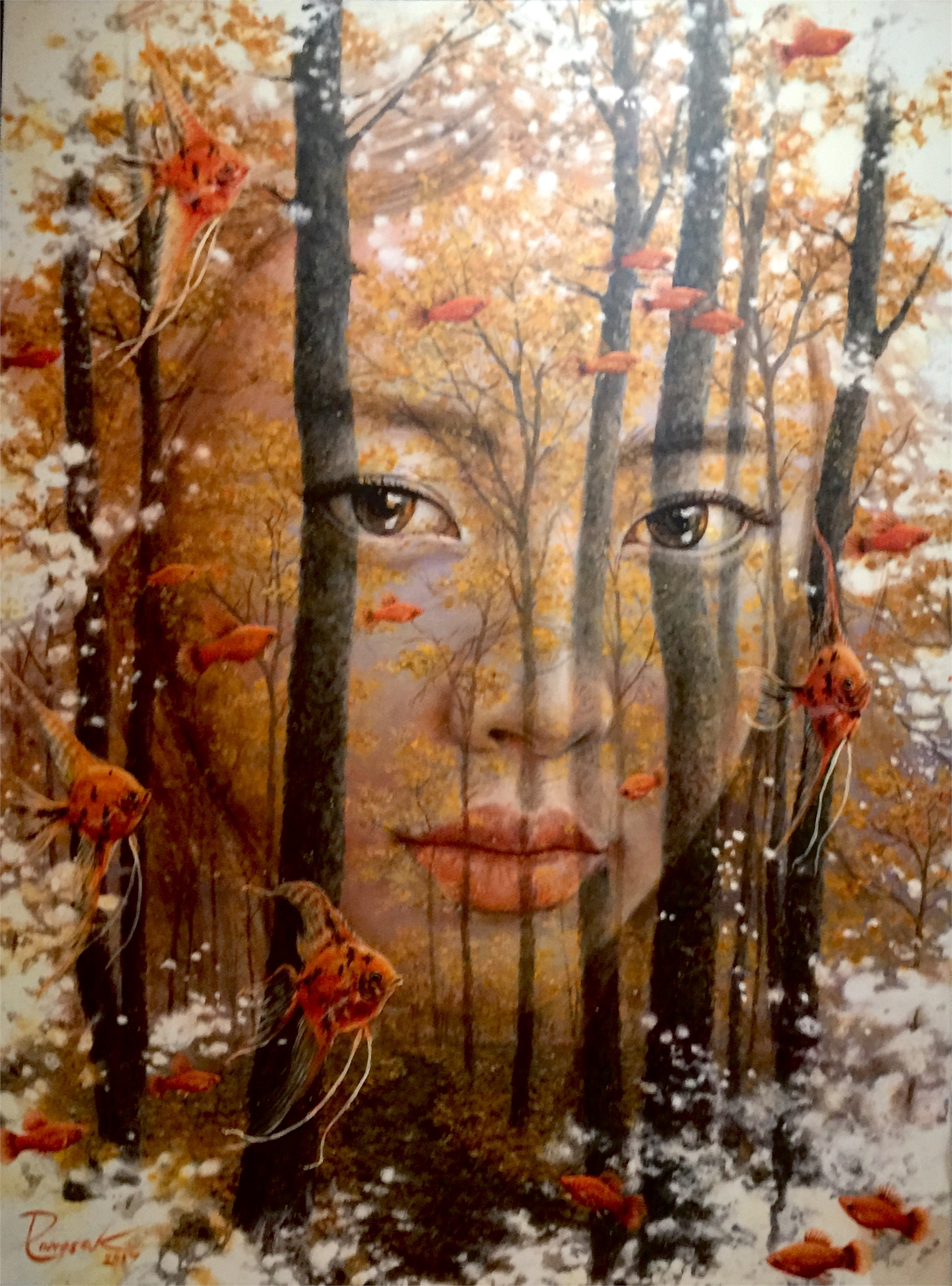"""Face in The Forest"" by Pongsak Kamjornrasamekit"