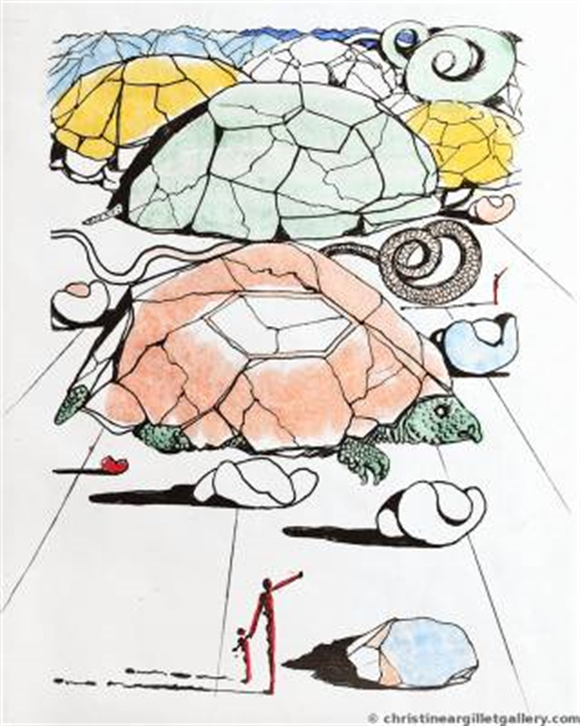 """Mao Zedong """"The Turtle Mountains"""" by Salvador Dali"""