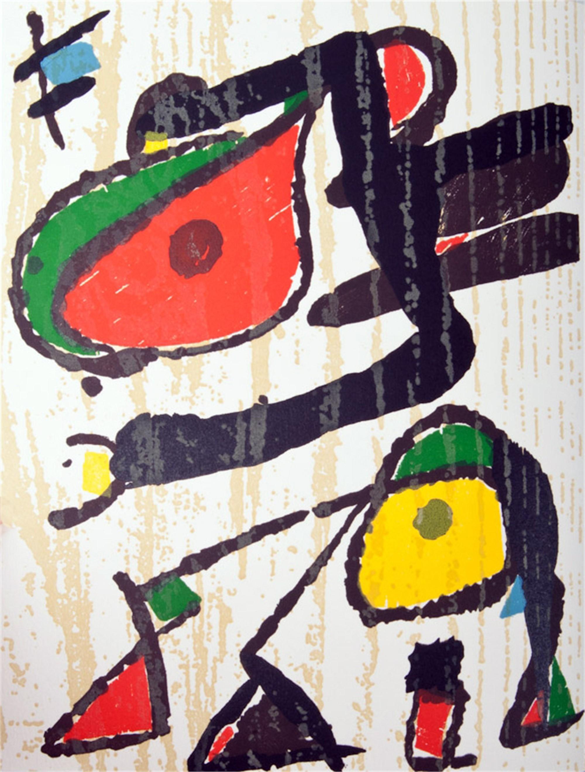Miro Engravings Vol. III Plate II by Joan Miro