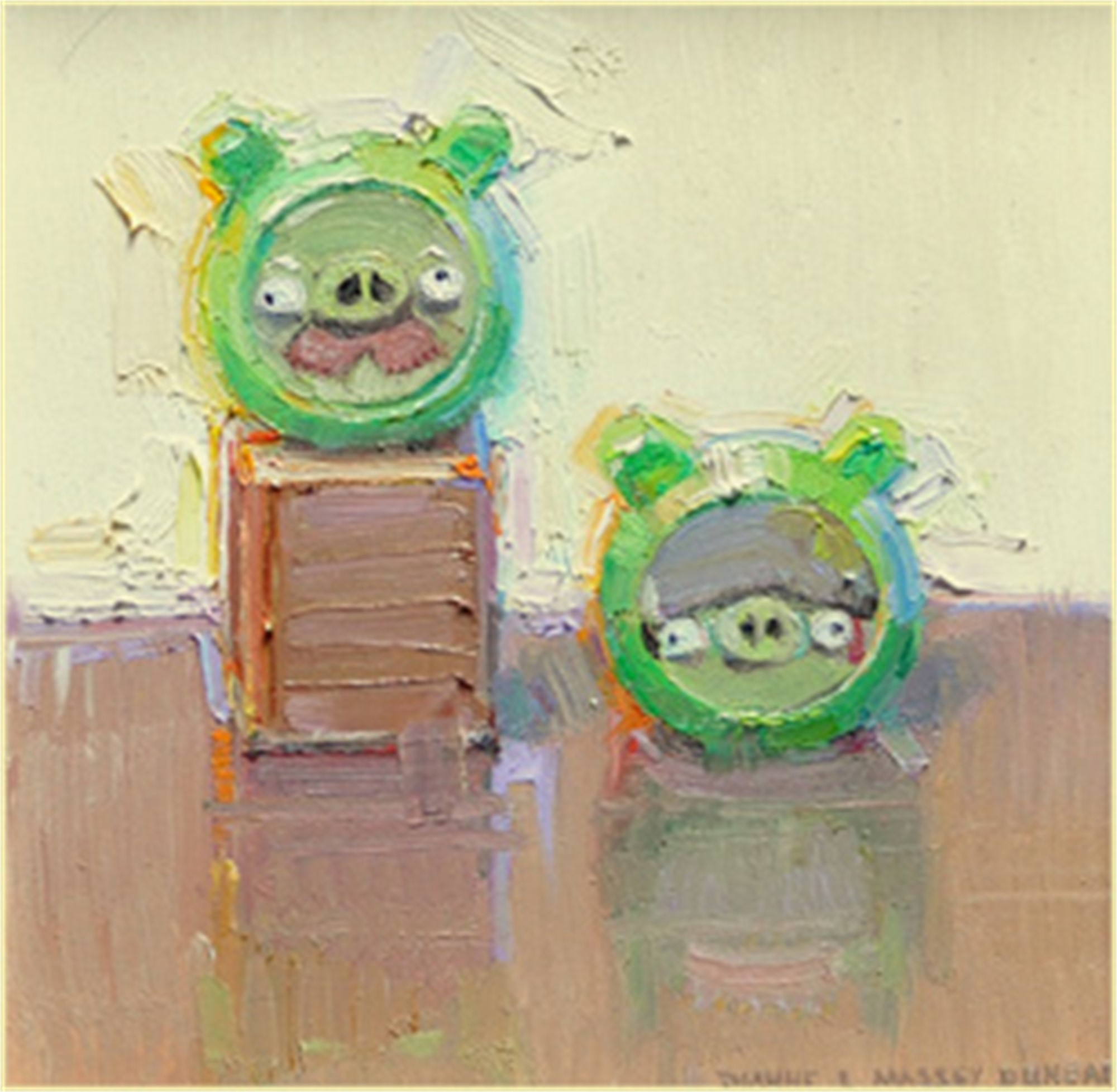 Angry Bird Pigs by Dianne L Massey Dunbar