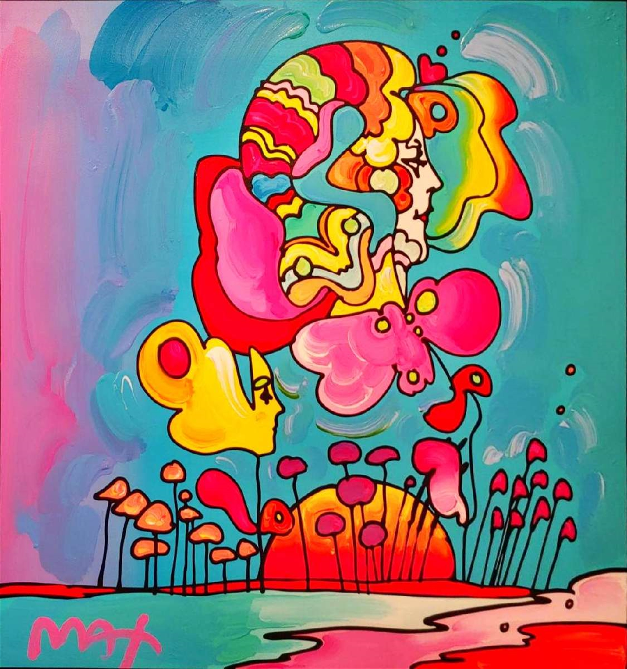 FLOWER FACE by Peter Max