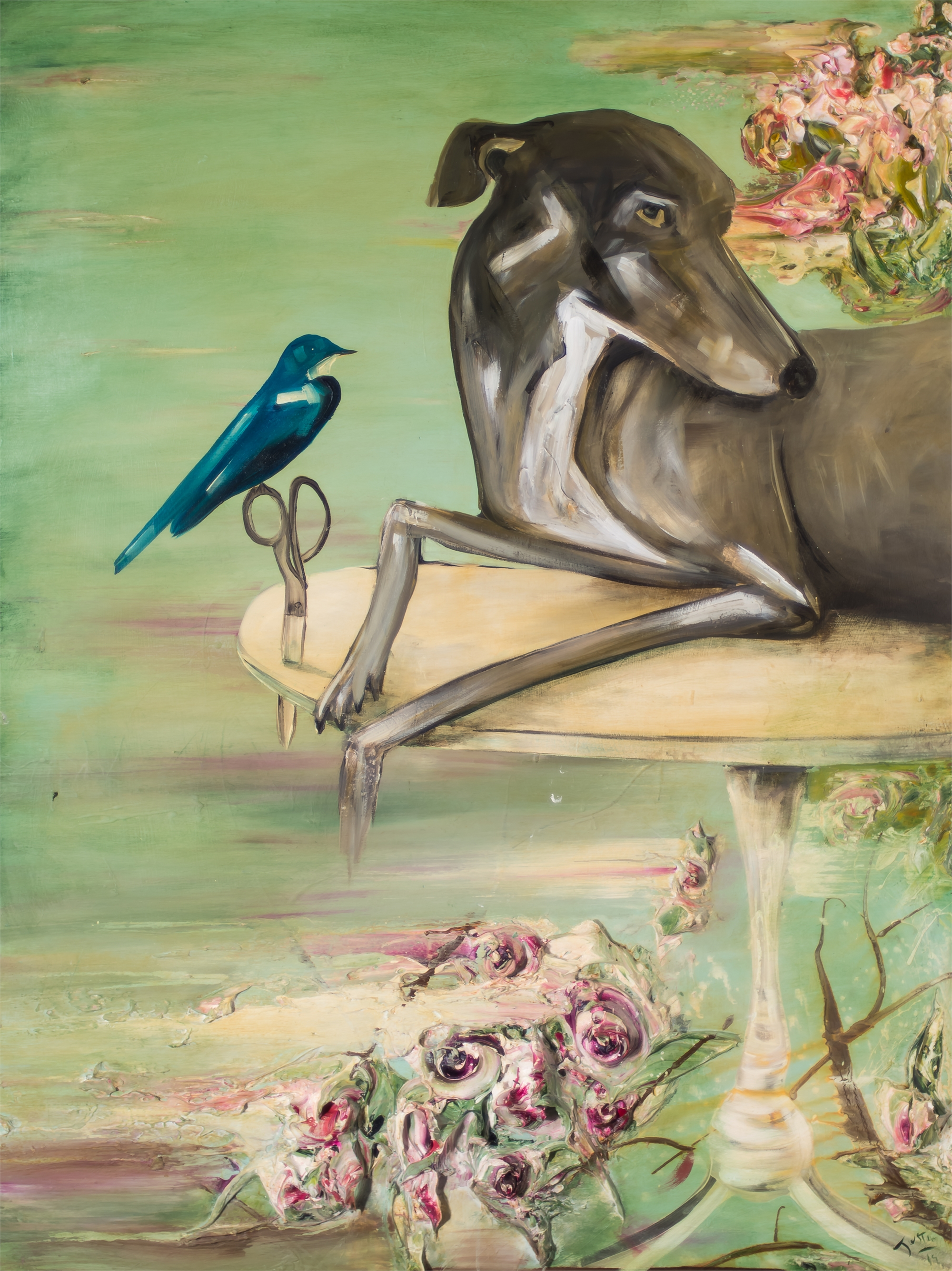 DOG AND BIRD DAB39X52-2019-141 by Justin Gaffrey