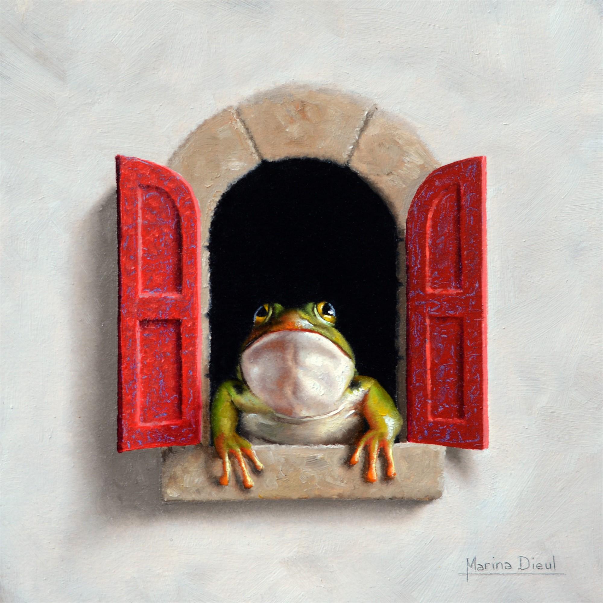 Grenouille a le Fenetre by Marina Dieul