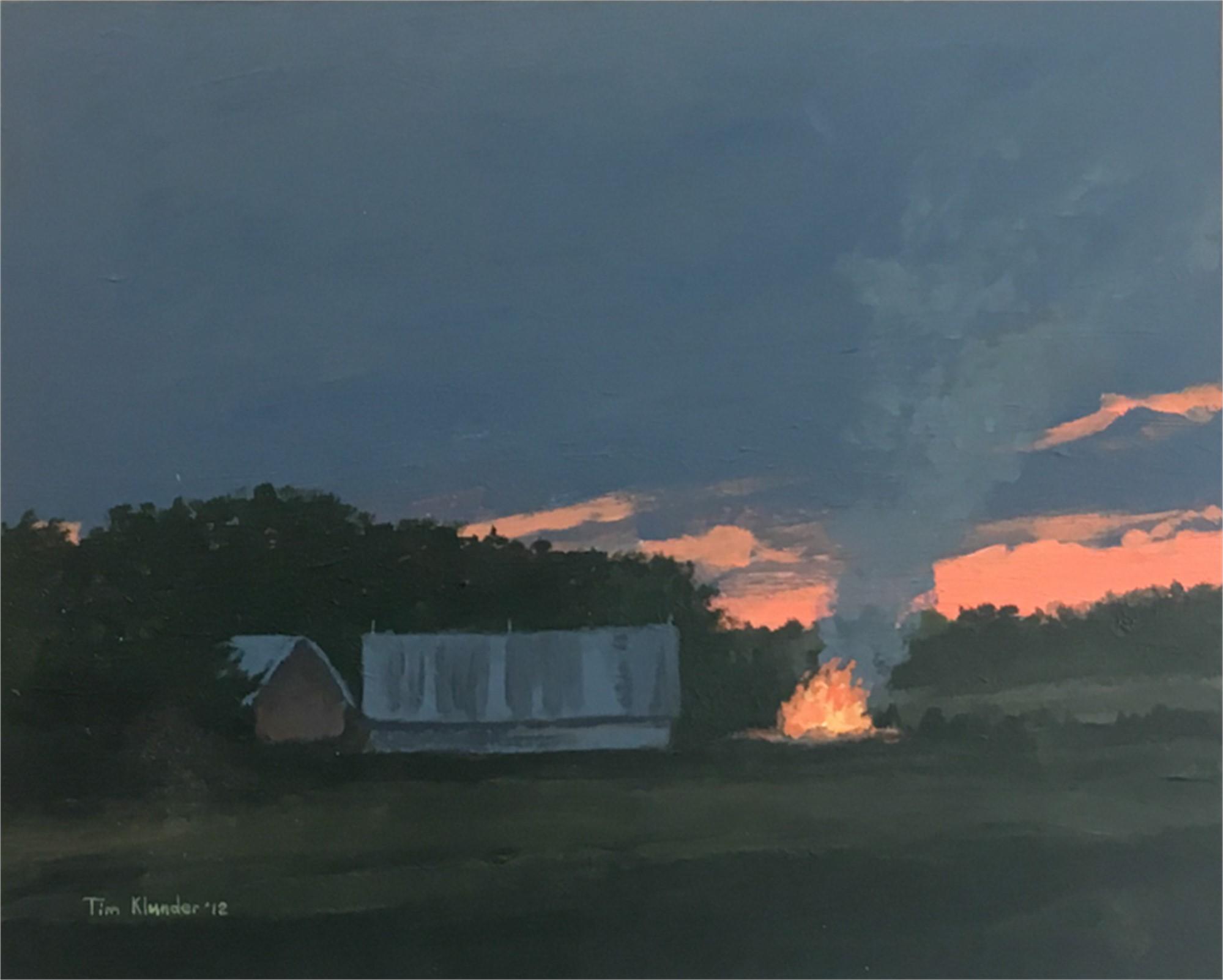Cut Brushfire, Dusk by Tim Klunder