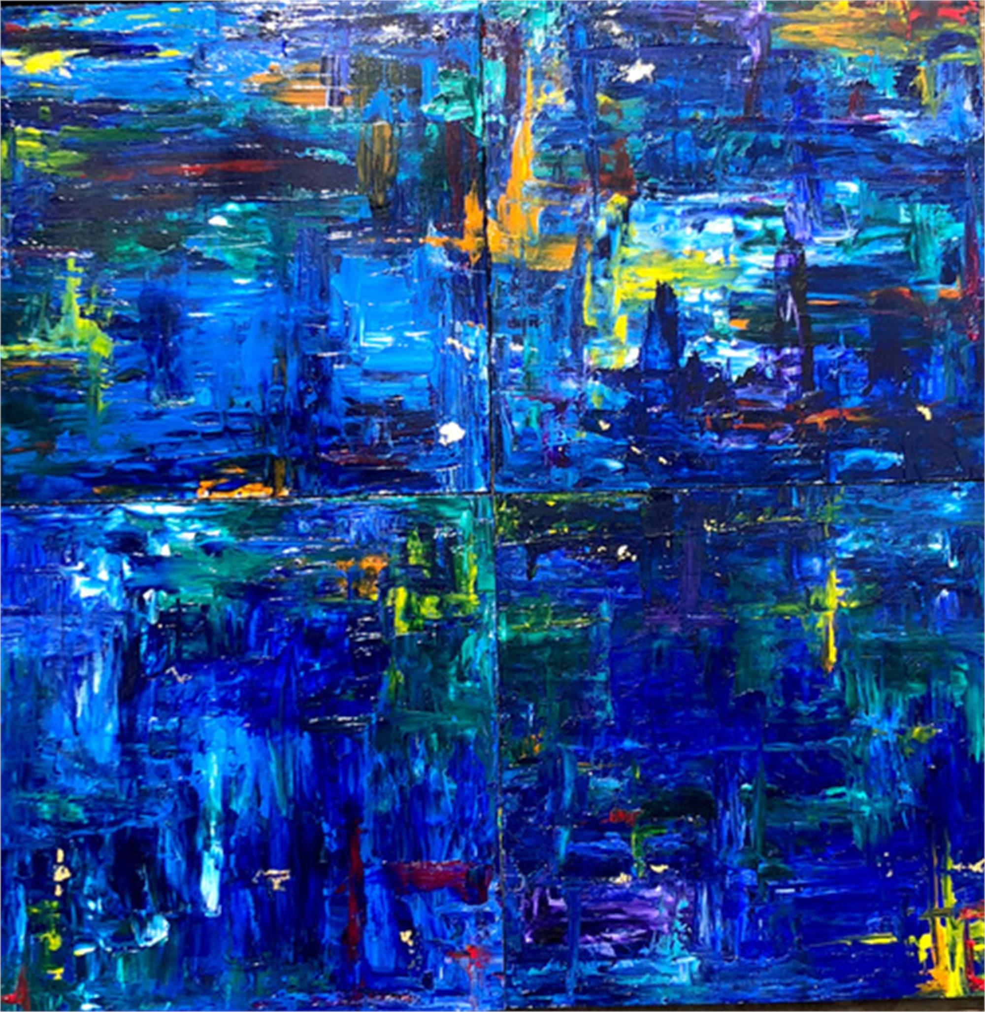Rain in the City by Andrea Kreeger