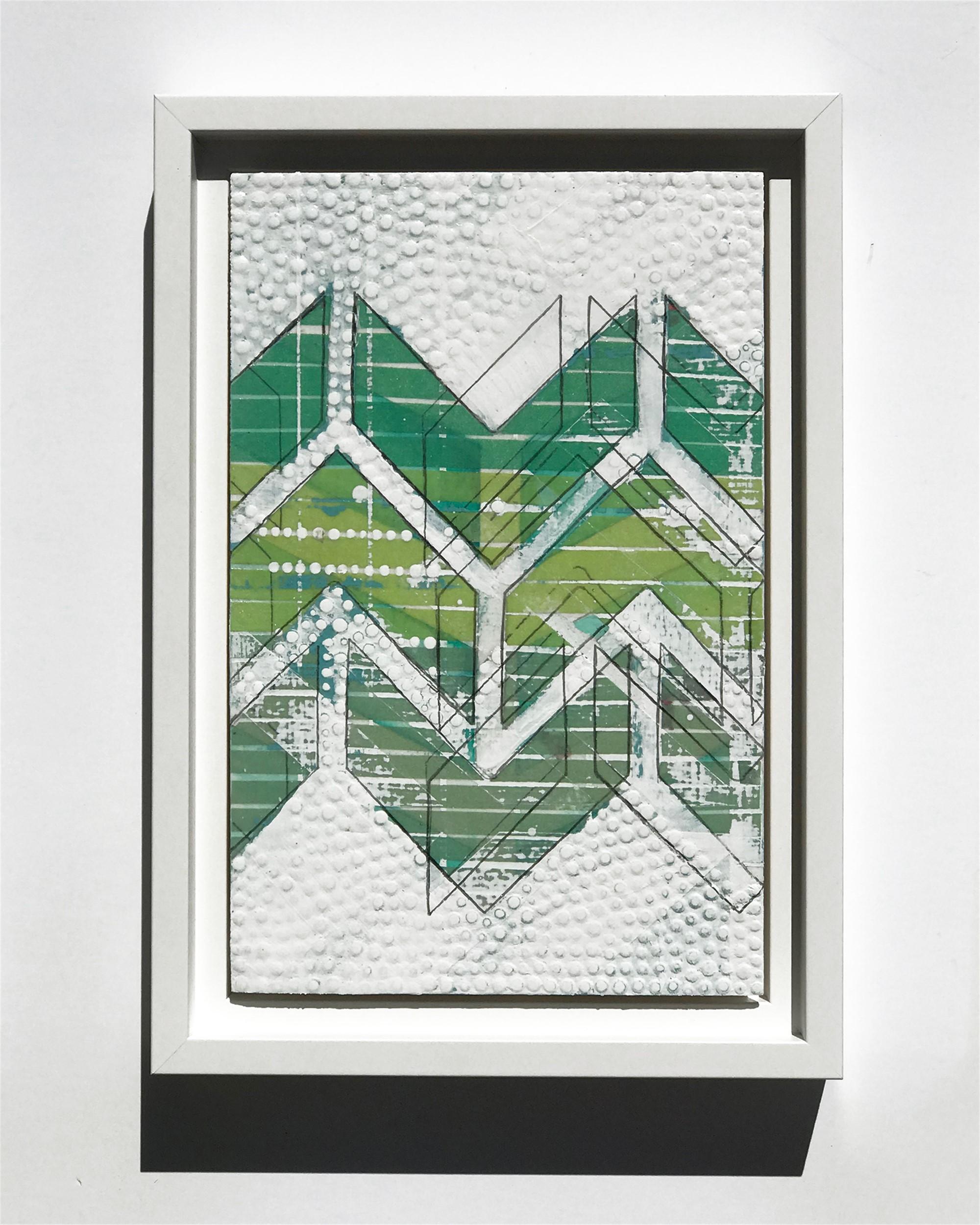 Chevron, Green, Study No.15 by Nina Tichava
