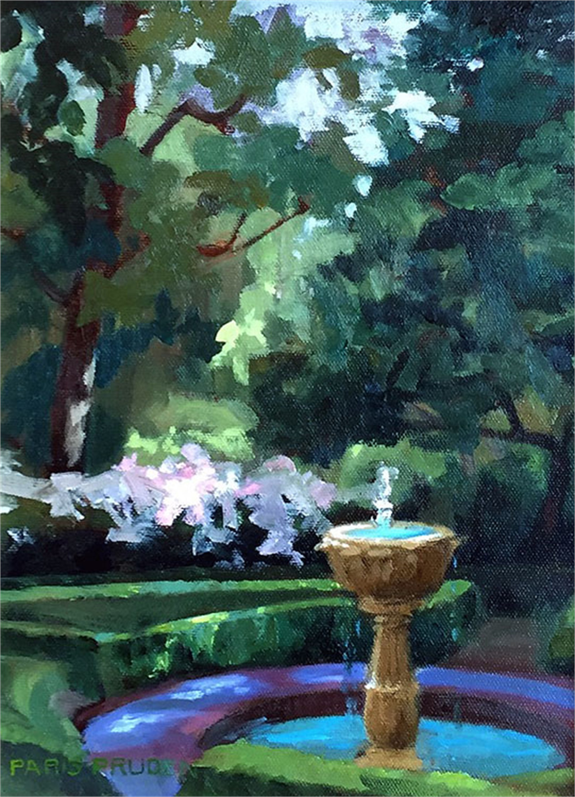 Shady Garden by Nancy Paris Pruden