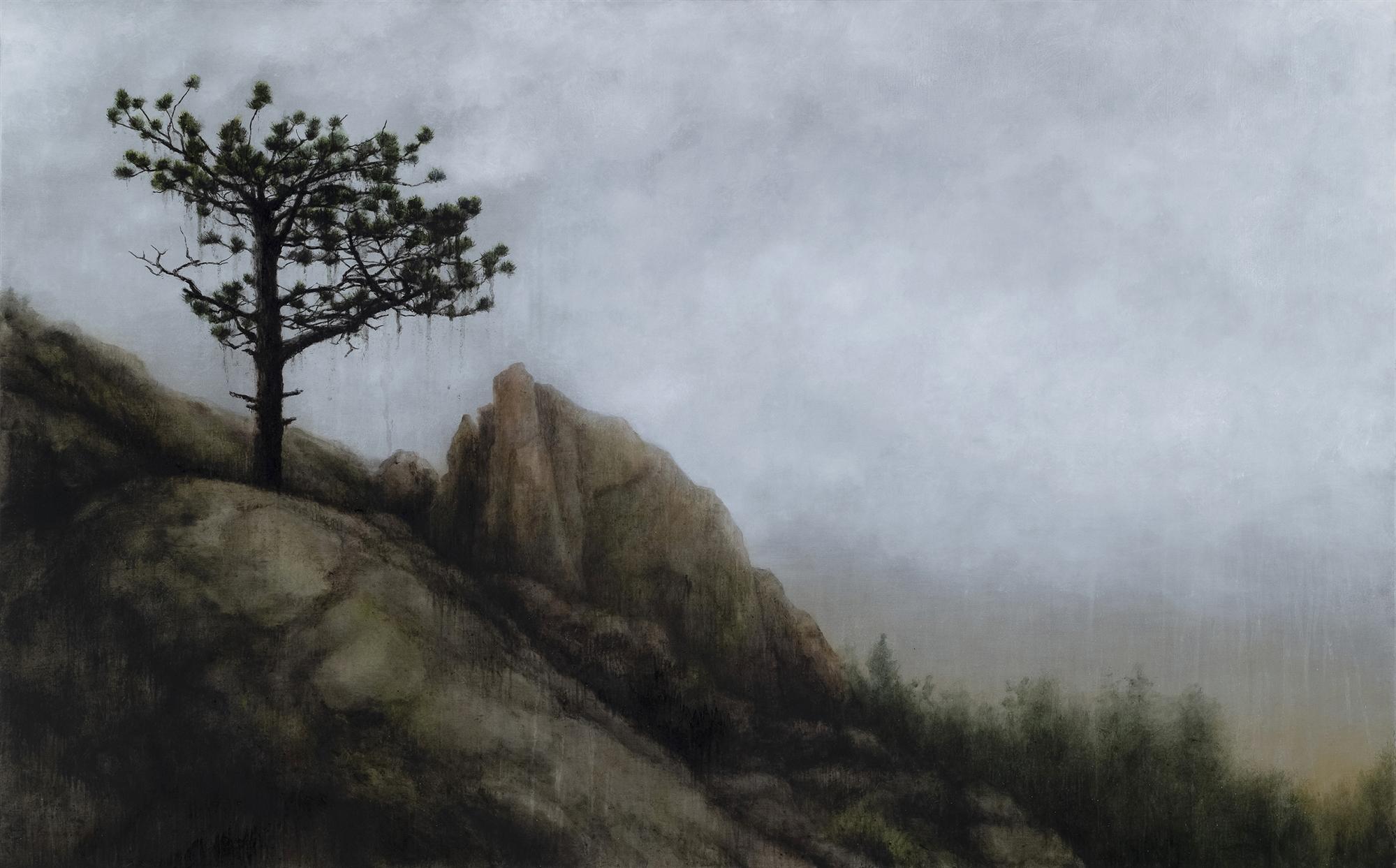 Ponderosa in the Rain by Lisa Lebofsky