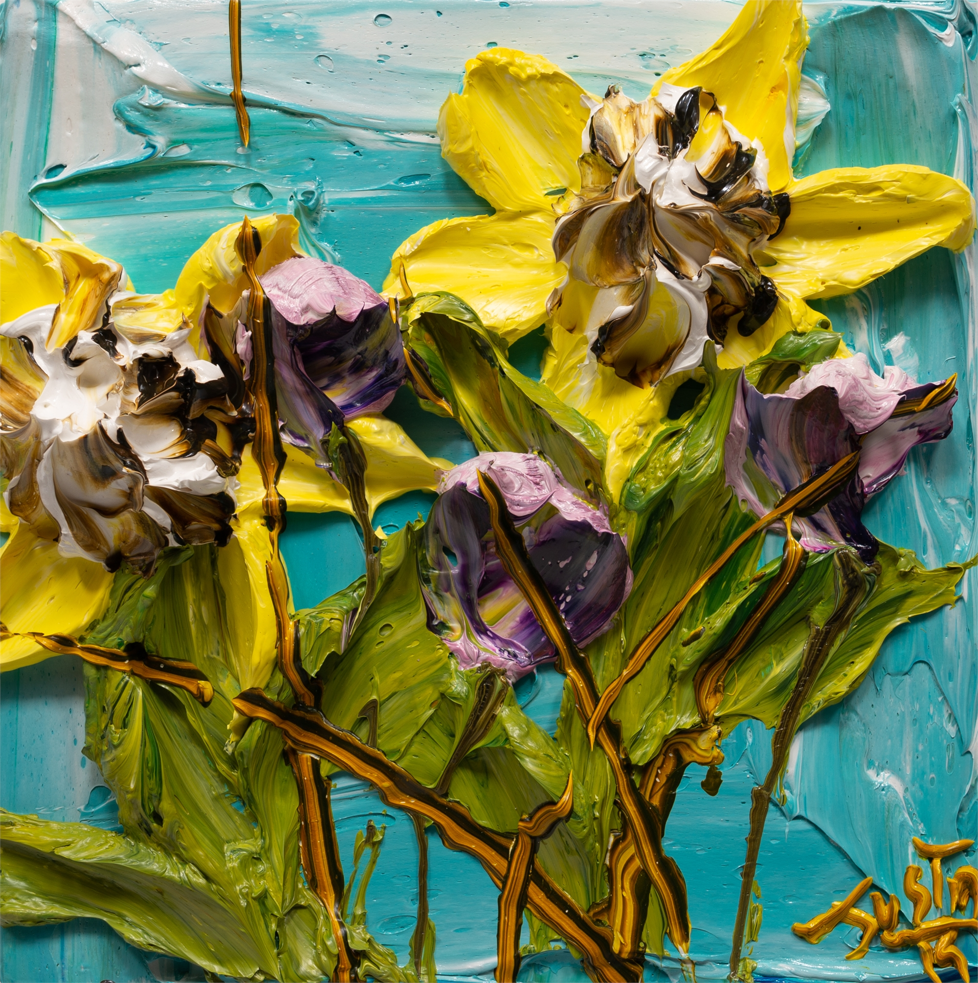 SUNFLOWERS-SF-12X12-2019-193 by JUSTIN GAFFREY