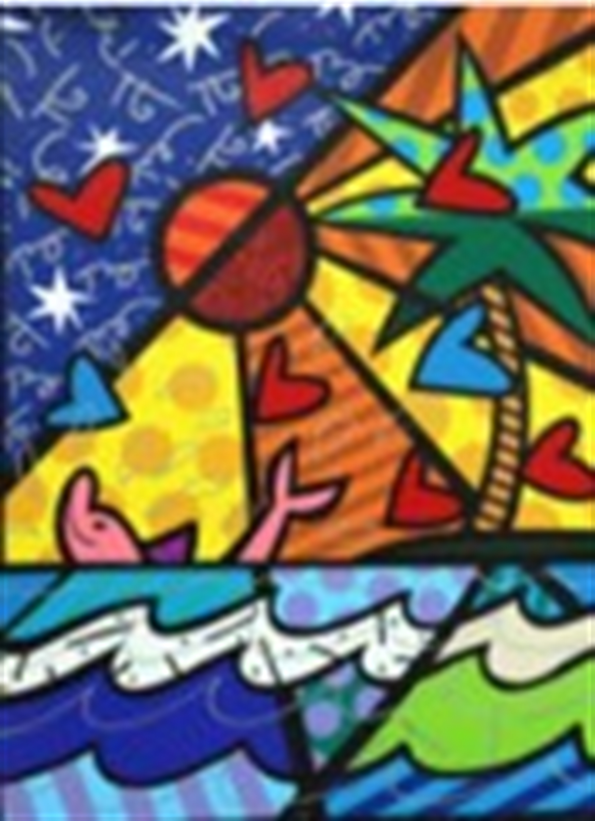 PINK DOLPIN by Romero Britto