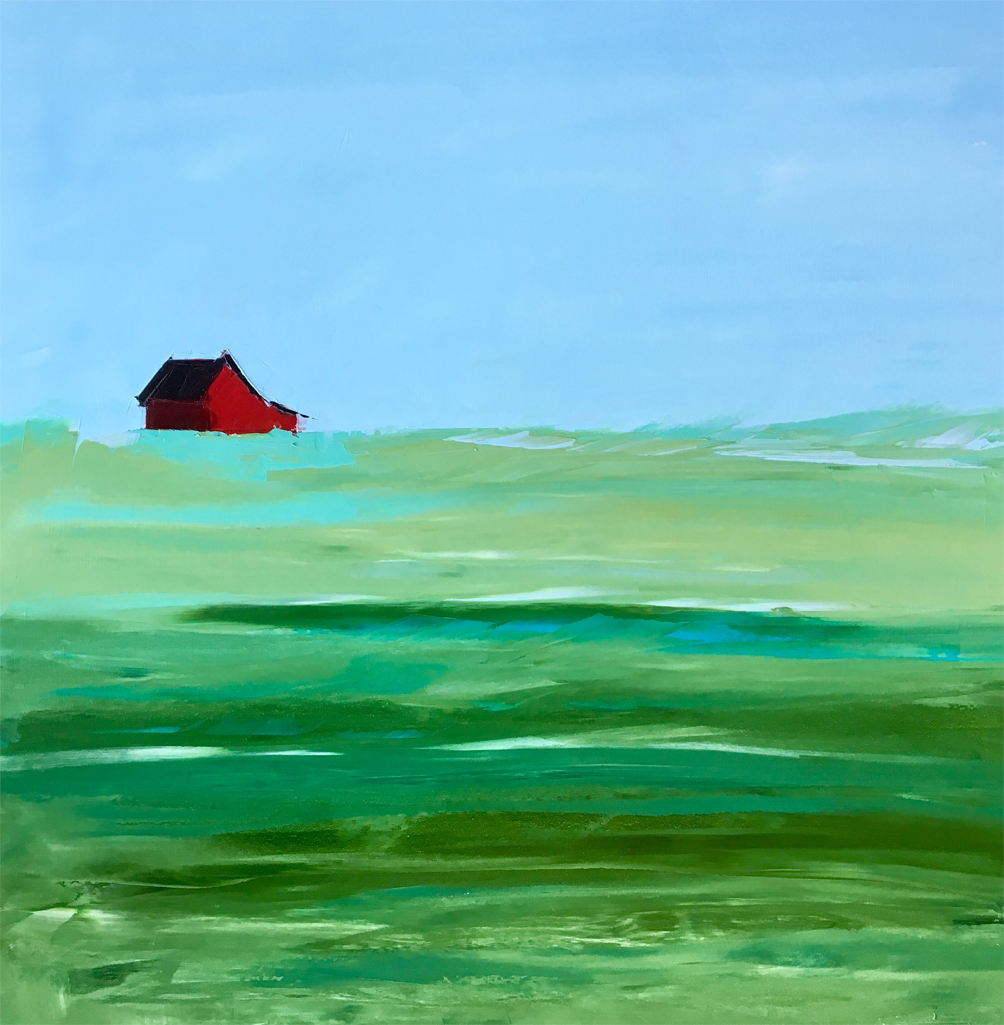 Red Barn by Sandra Pratt