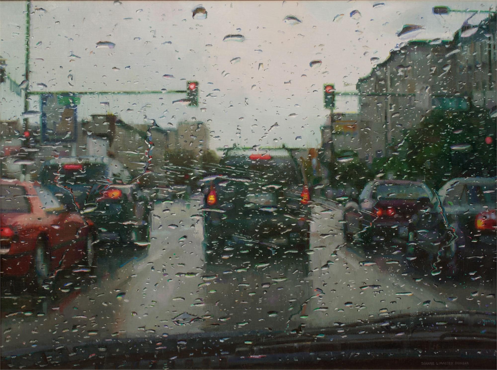Rain on Windshield by Dianne L Massey Dunbar