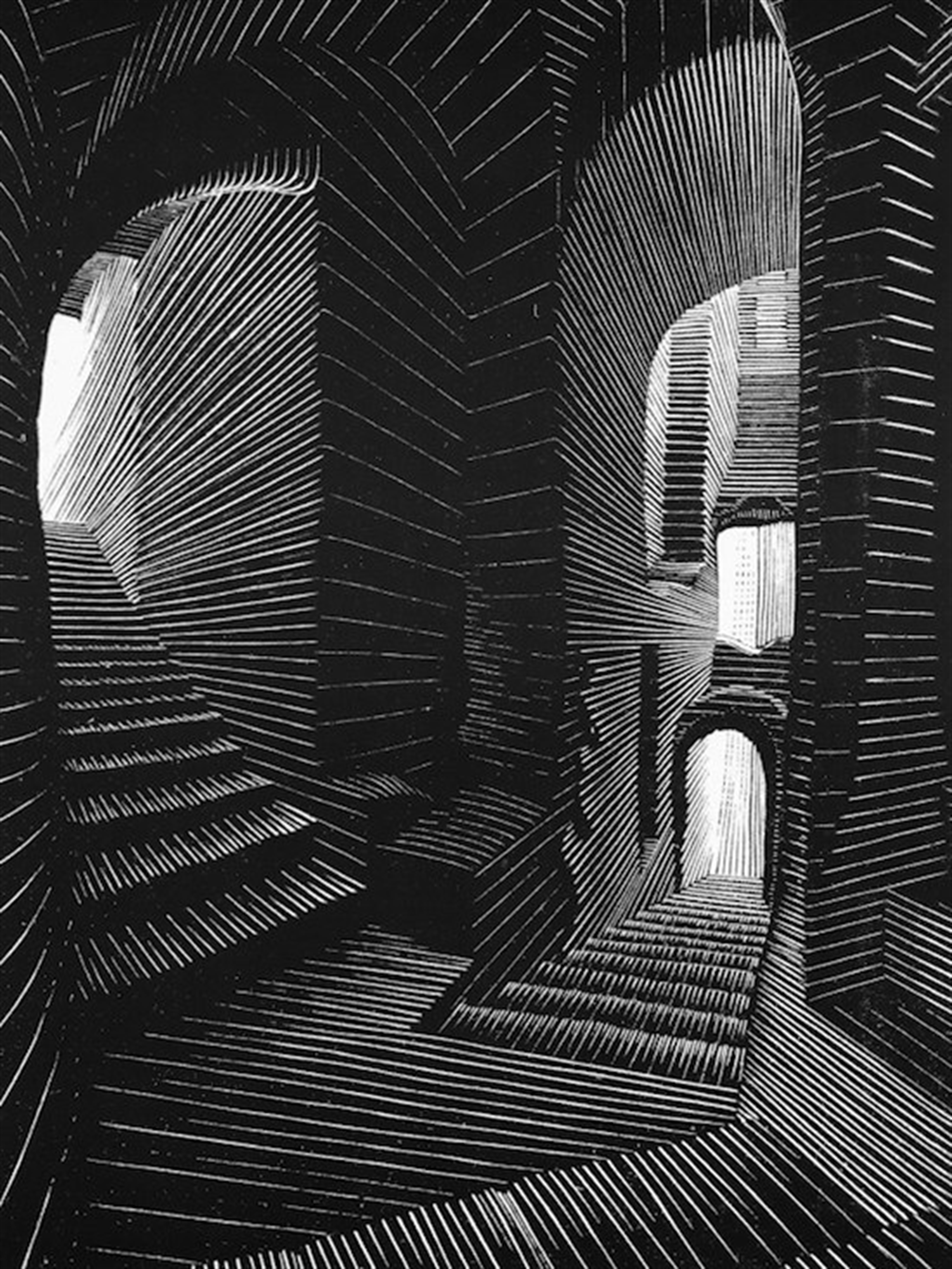 Covered Alley in Atrani, Amalfi by M.C. Escher