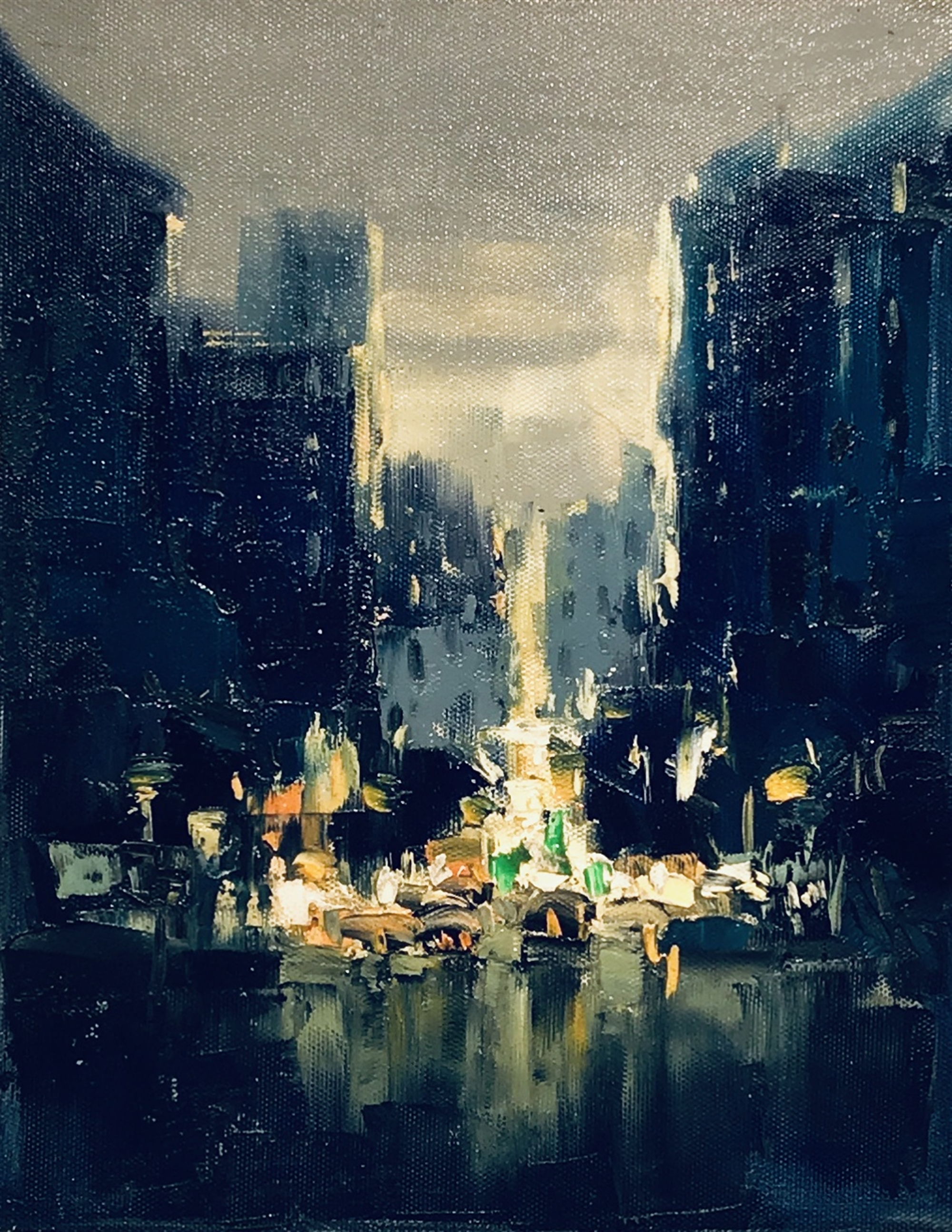 CityScape in Dark Blue by VARIOUS WORKS