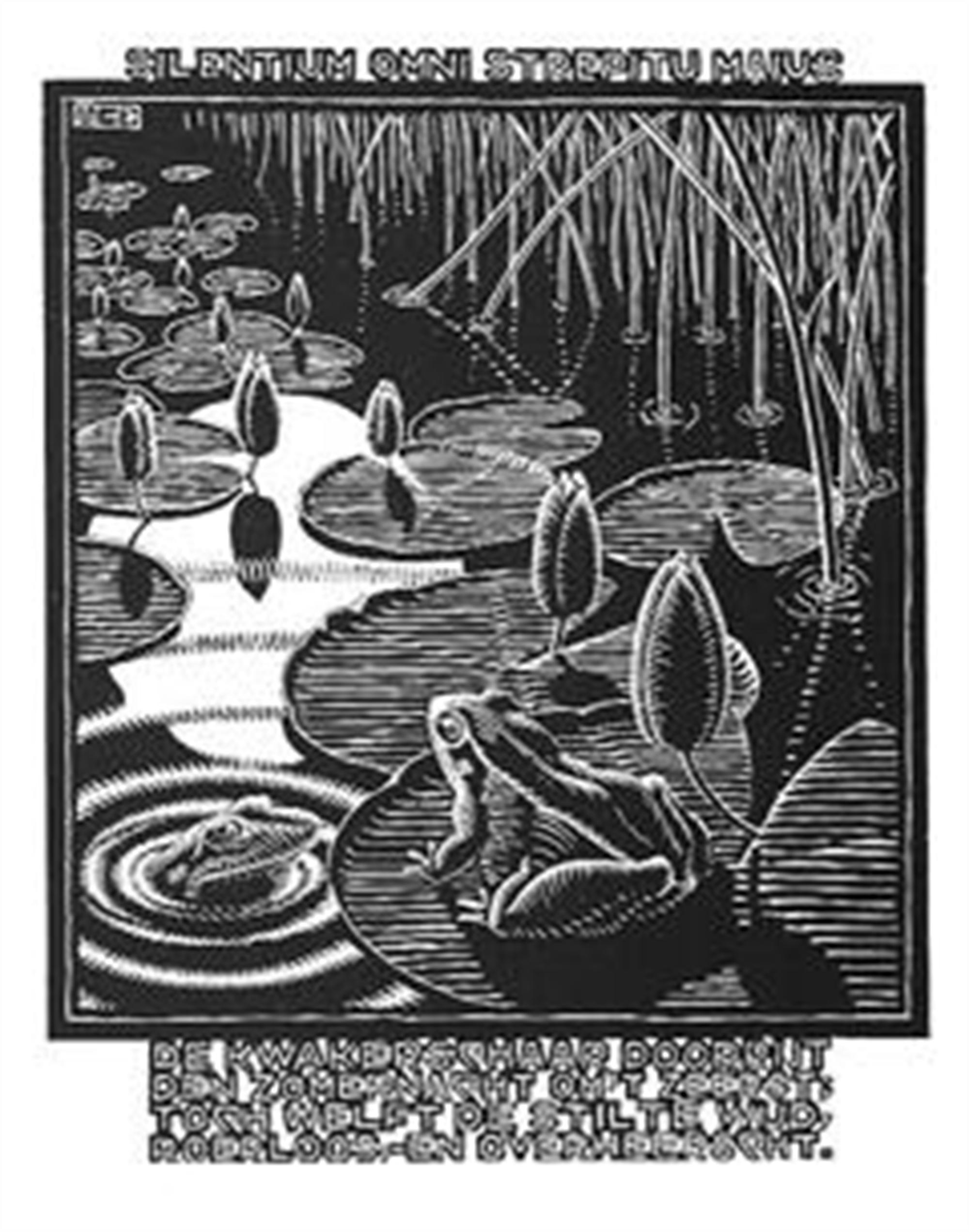Emblemata - Frog by M.C. Escher