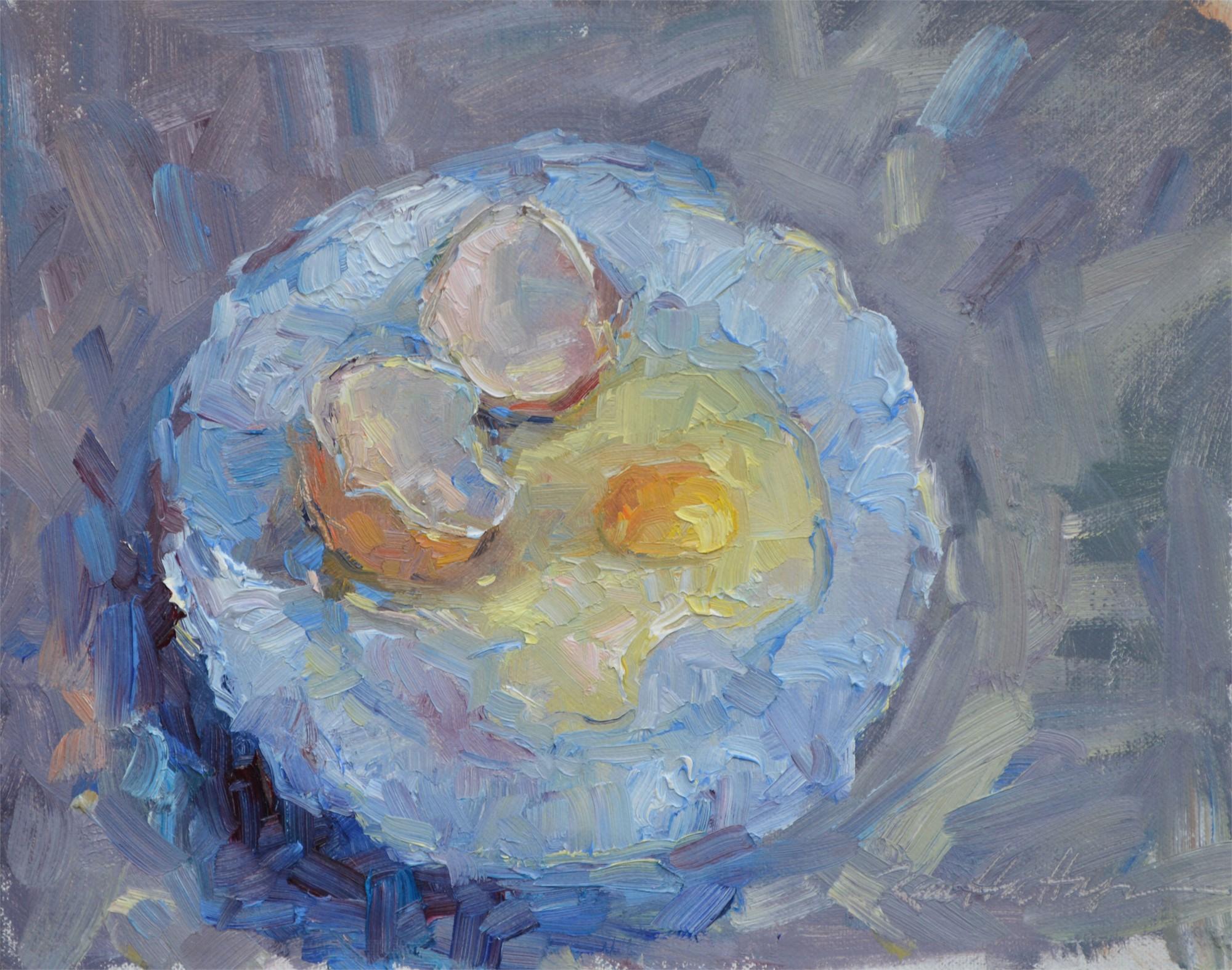 Eggs on a Plate by Karen Hewitt Hagan