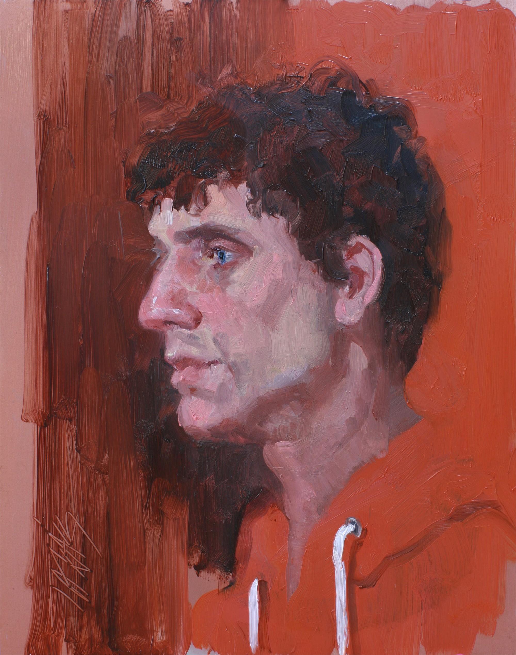 The Orange Hoodie by Judy Takacs