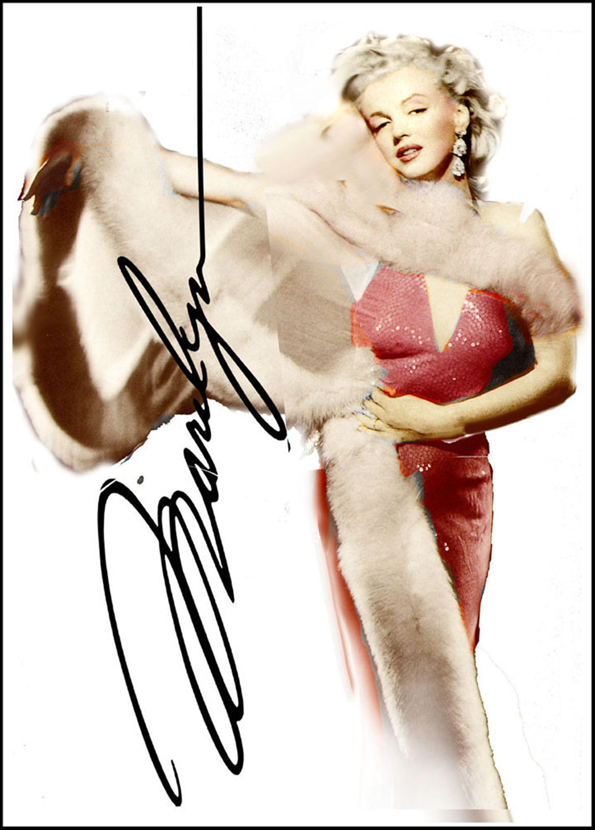 Marilyn Available as Commission- Size TBD by Bill Mack Hollywood Sign