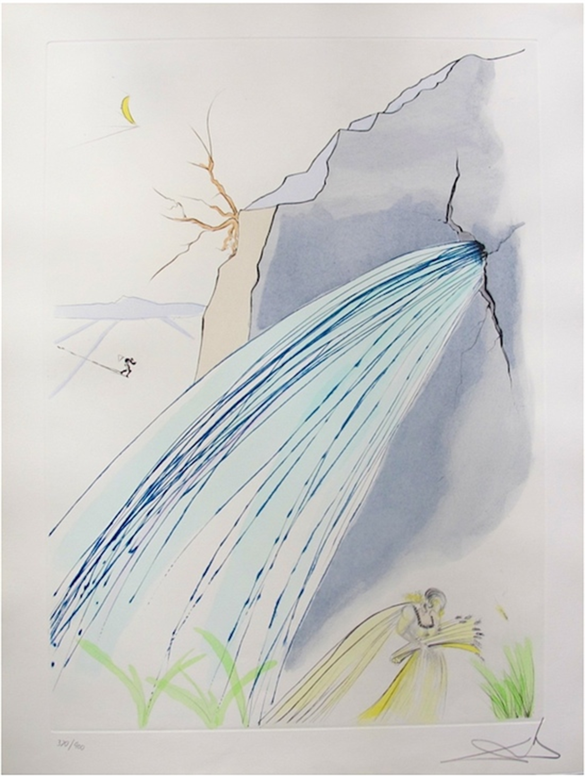 The Rock (from Our Historical Heritage, suite of 11) by Salvador Dali