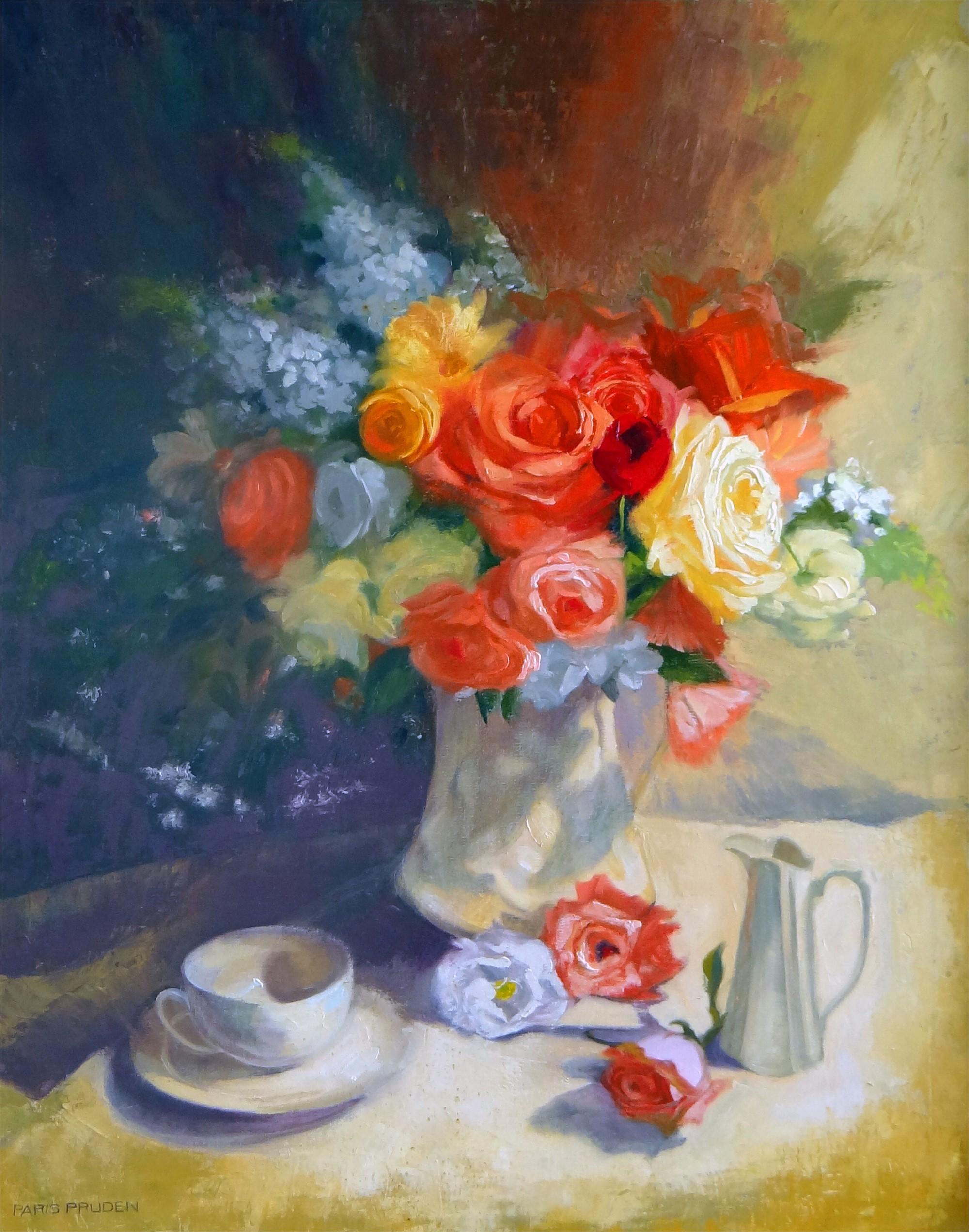 Tea And Roses, 2017 by Nancy Paris Pruden