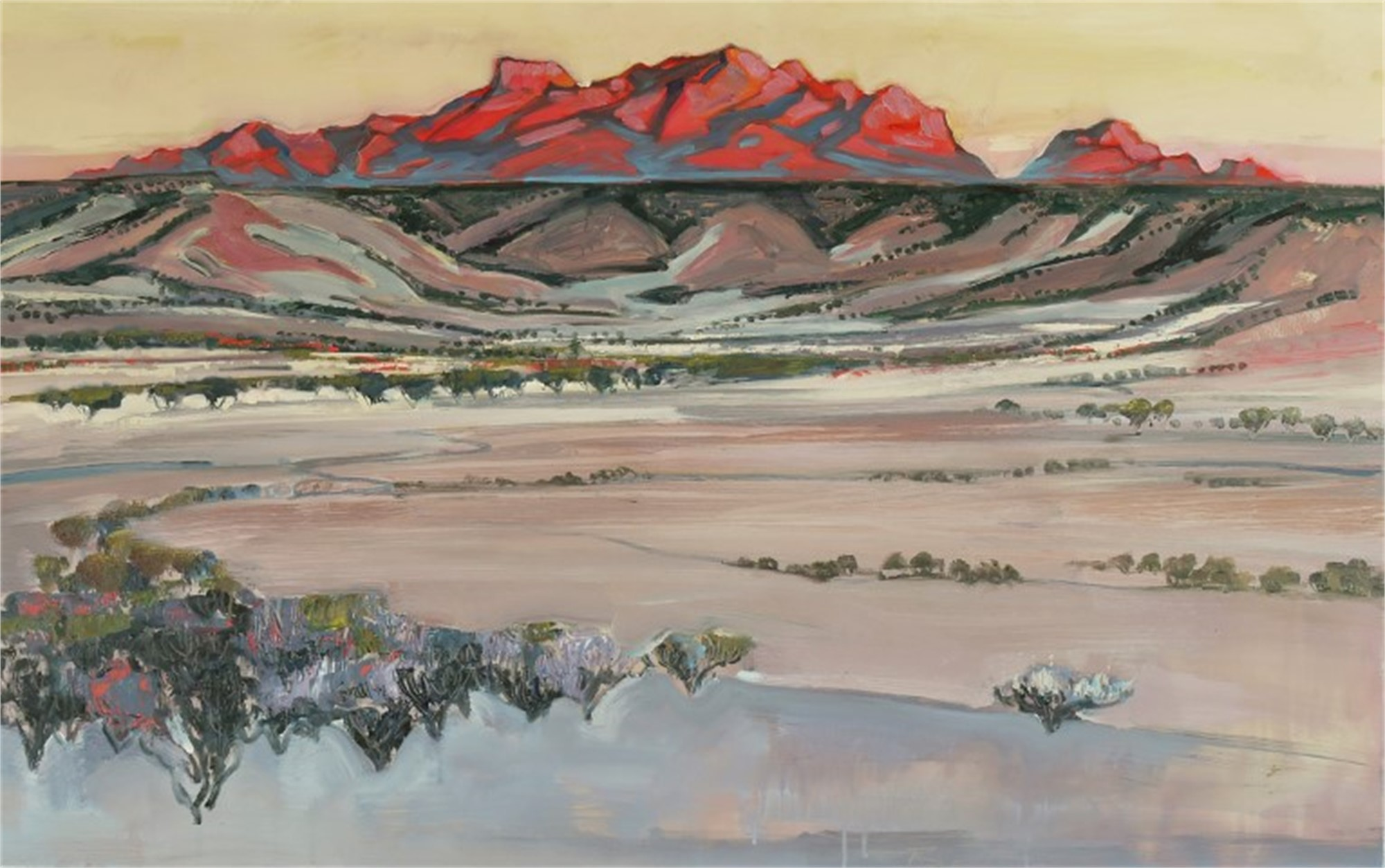 Chisos Mountains From a Distance by Mary Baxter