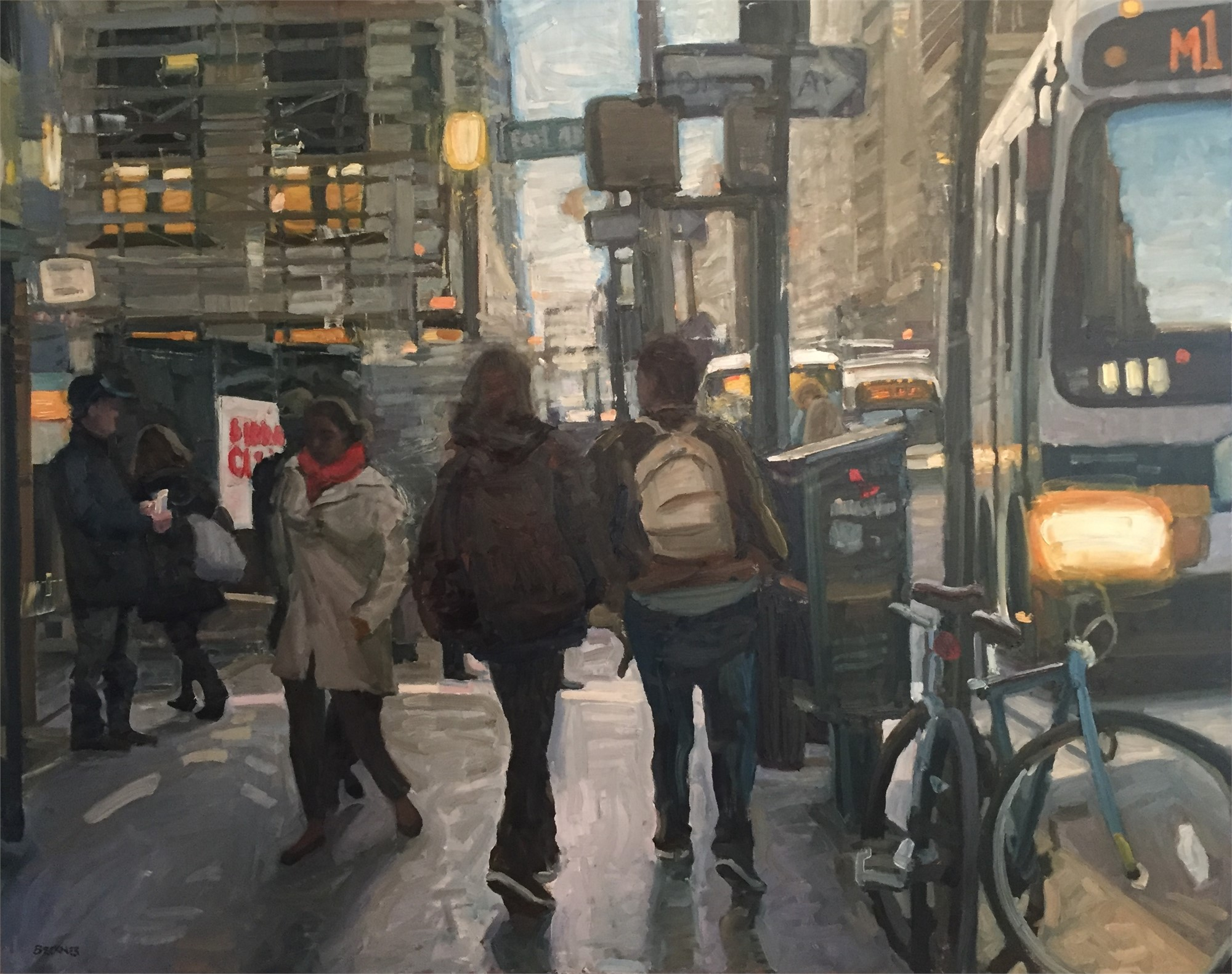 New York Walkway by Jim Beckner