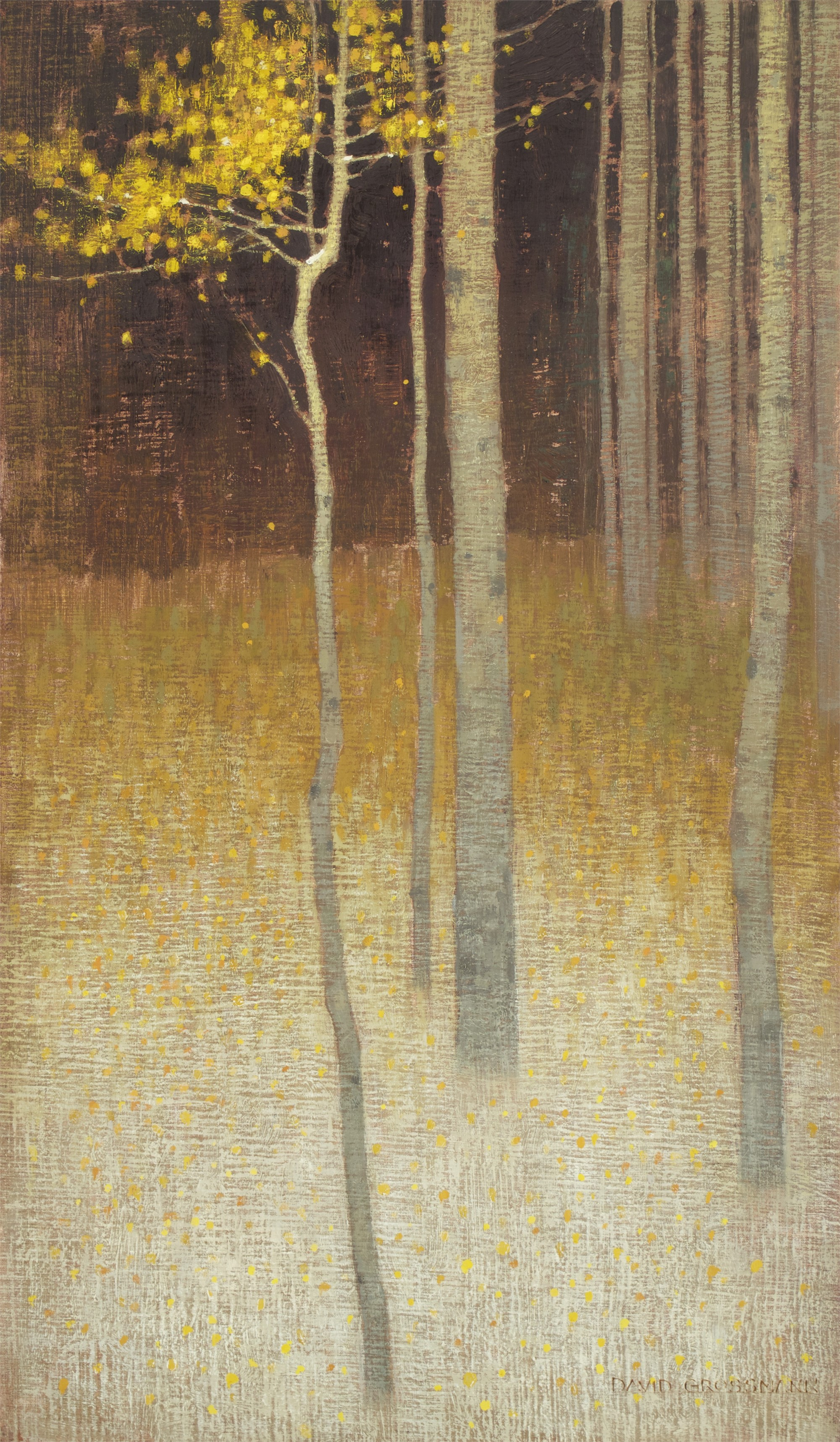 Last Leaves and First Snow by David Grossmann