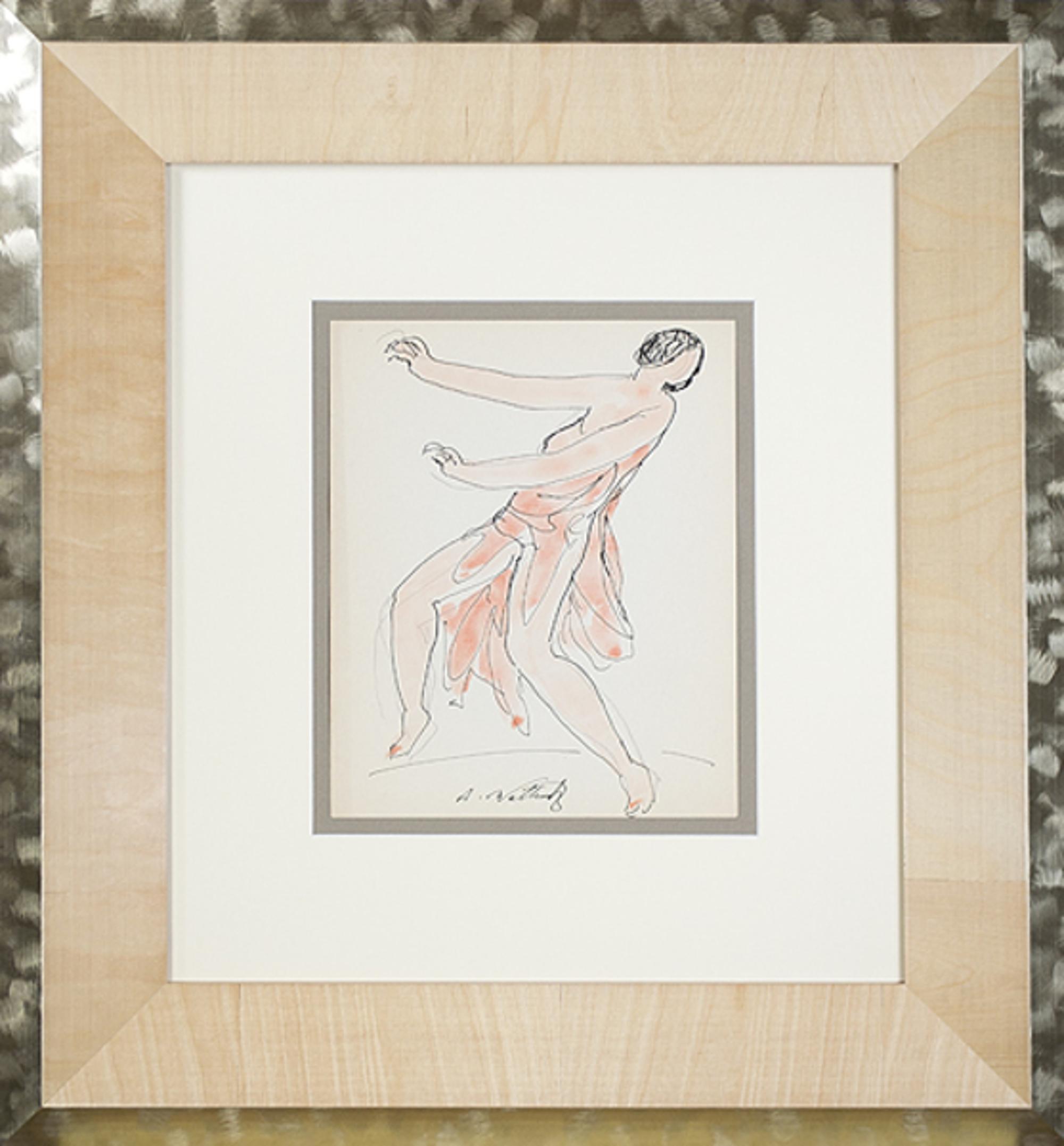 Isadora Duncan (Orange) by Abraham Walkowitz