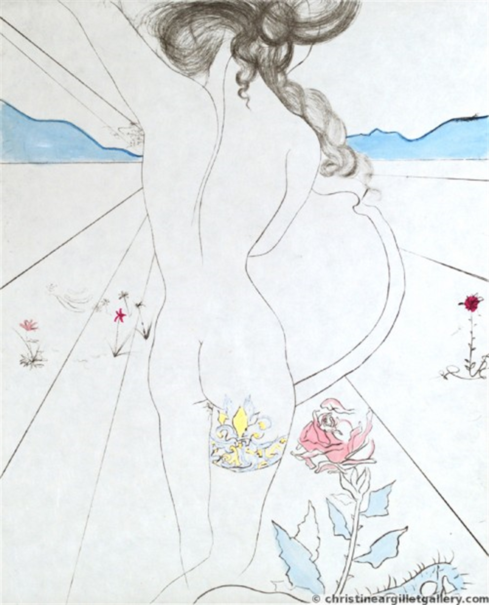 "The Hippies ""Nude with Garter"" by Salvador Dali"