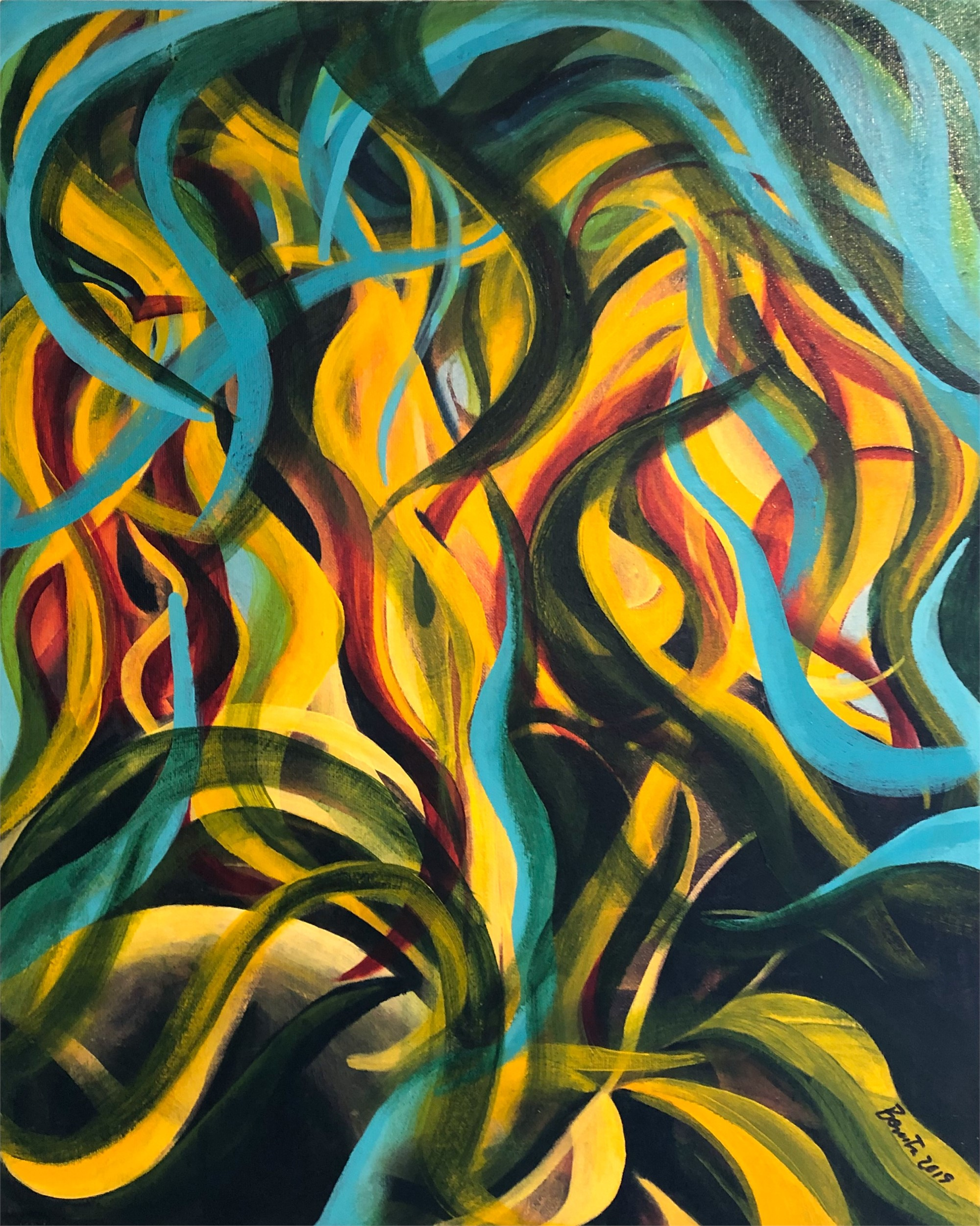 Fire Flower Abstract by Benita Cole (McMinnville, OR)