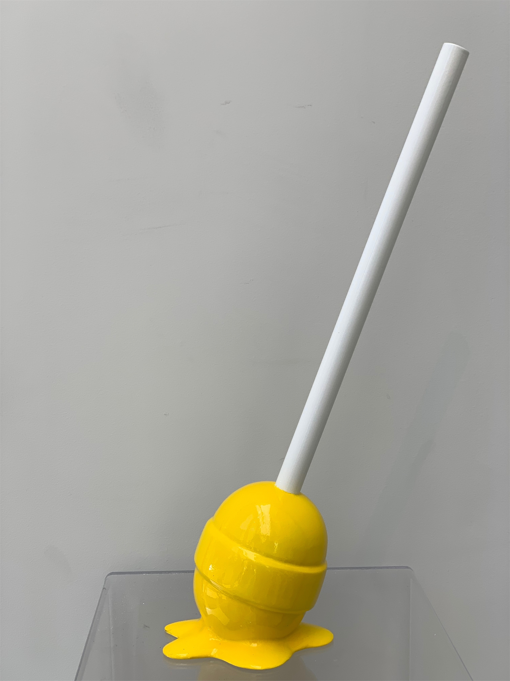 The Sweet Life Small Yellow Lollipop by Elena Bulatova