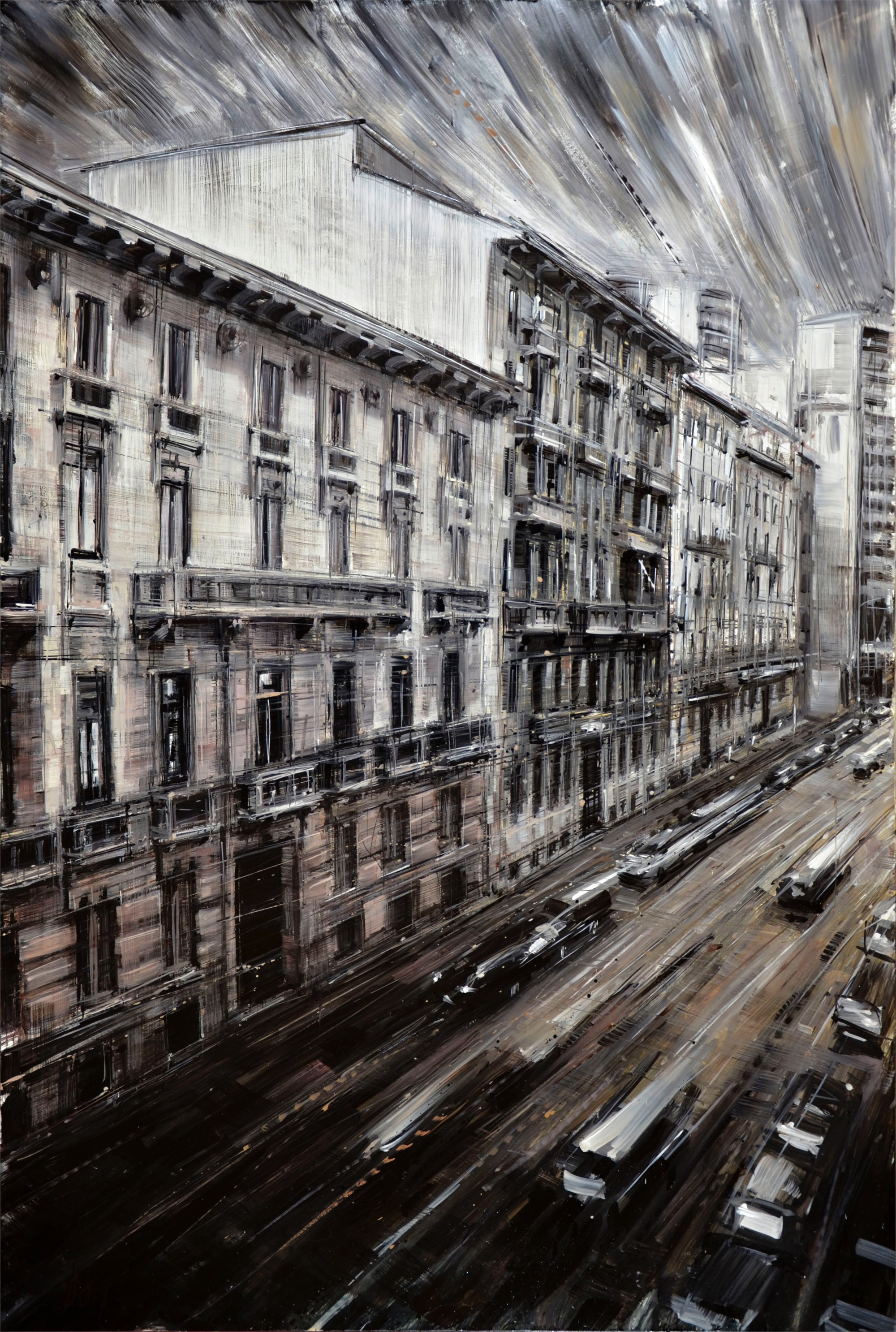 Street from the Window by Valerio D'Ospina