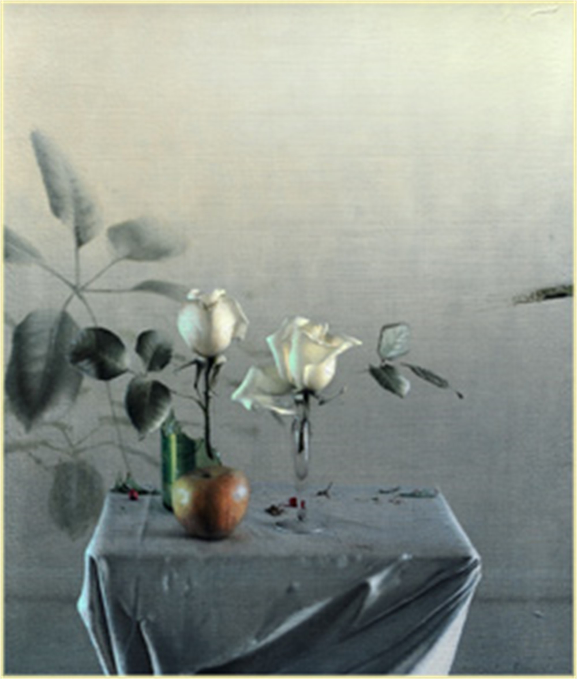 White Roses by Daniel Sprick