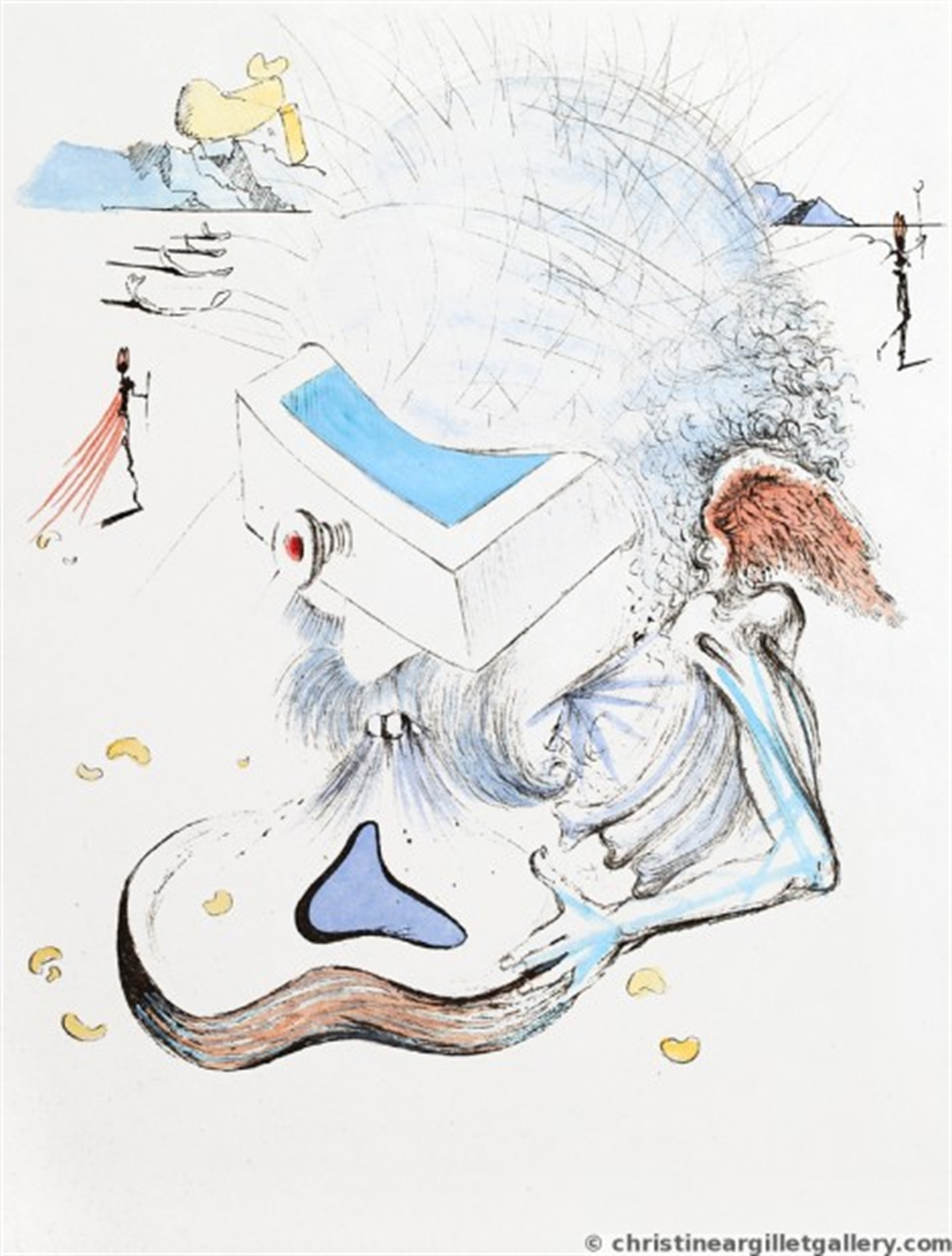 """Apollinaire """"Head with Drawer"""" by Salvador Dali"""