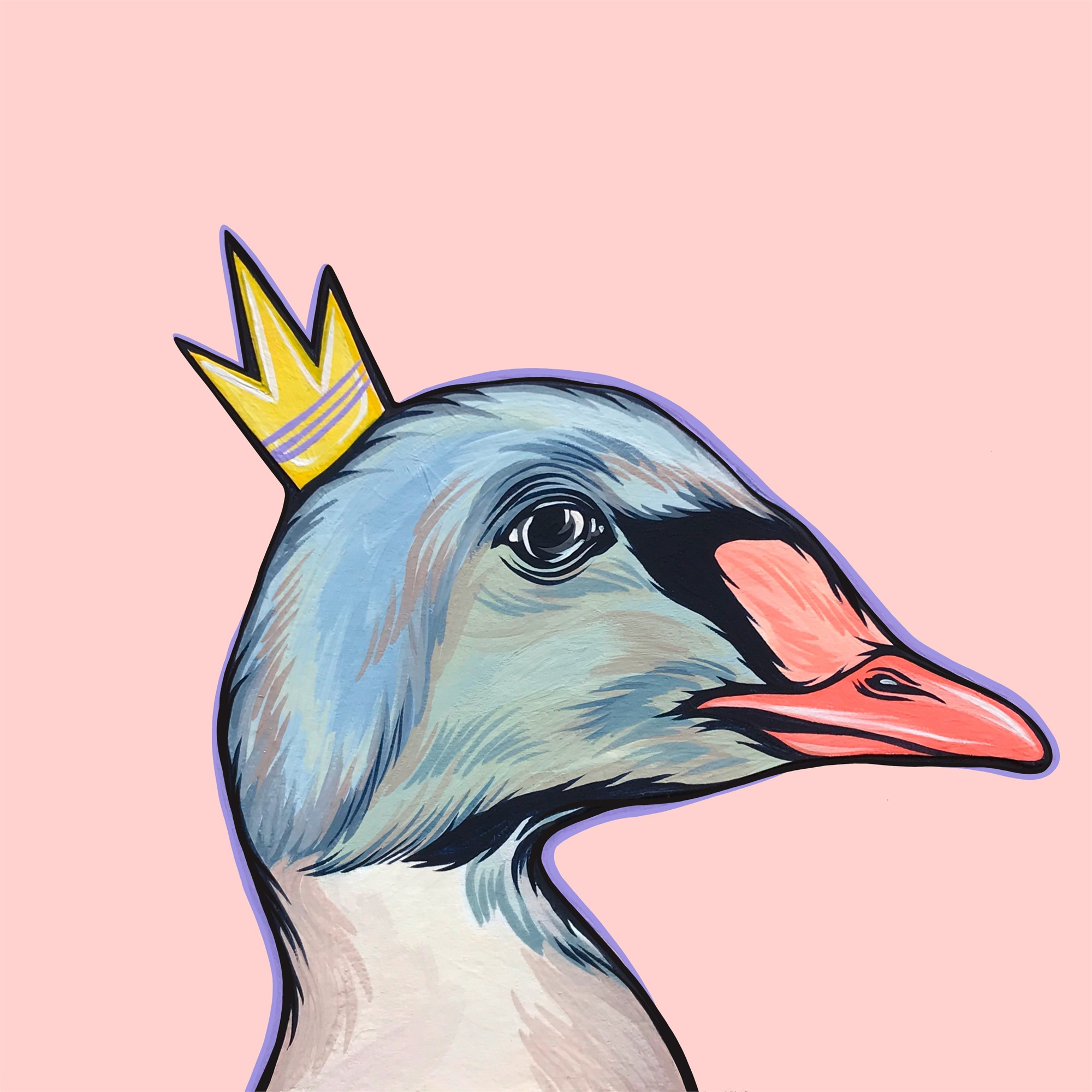 Mighty Ducks Purple Crown by Kaitlin Ziesmer