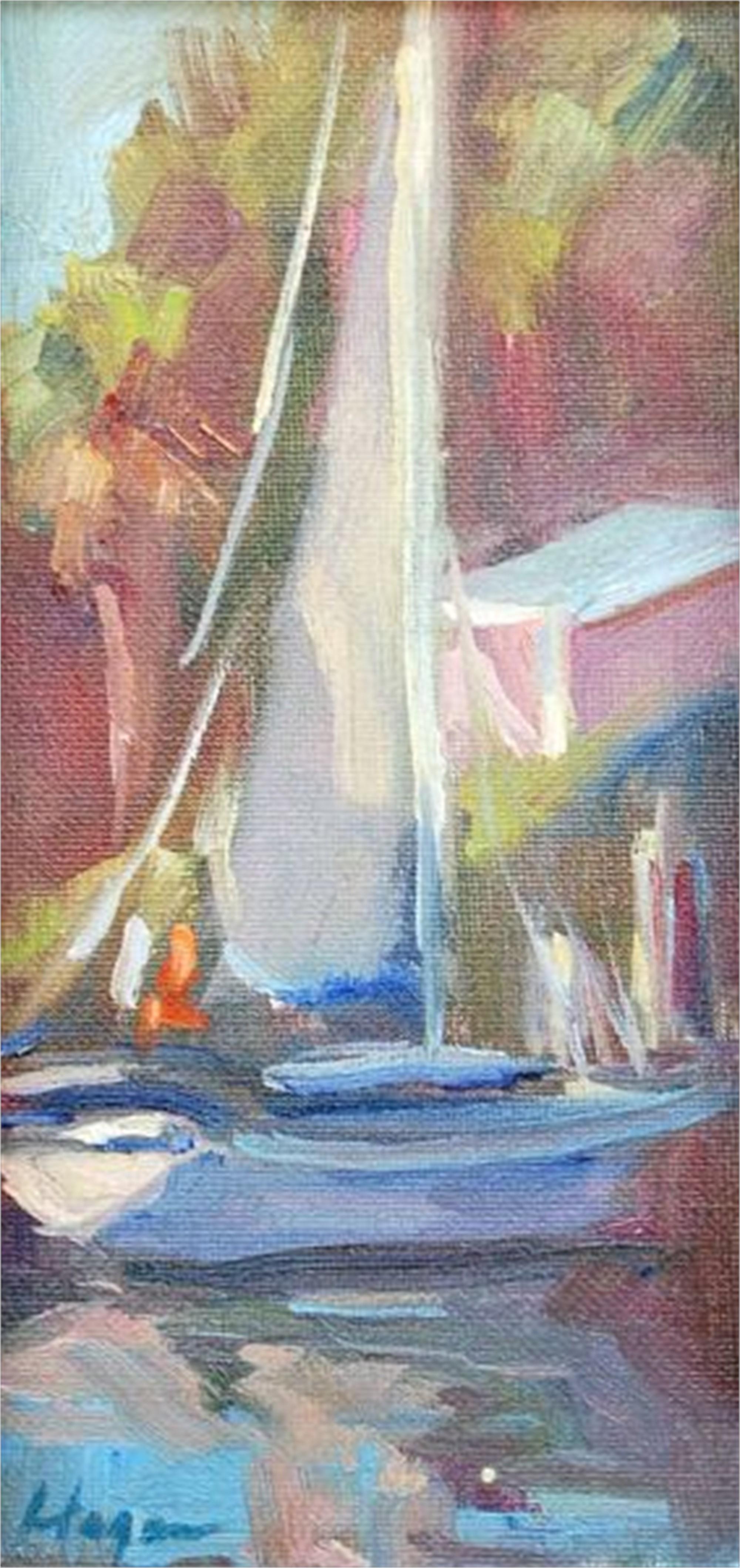 Docked at Hope Town II by Karen Hewitt Hagan
